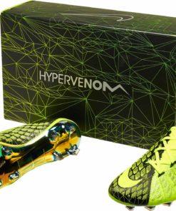 ff436aa6594 Nike Kids Hypervenom Phantom III DF FG - EA Sports - Volt   Black - Soccer  Master