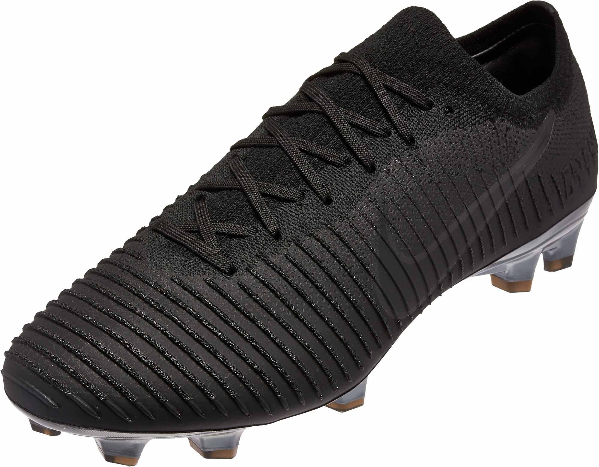 Nike Flyknit Ultra FG - Black - Soccer