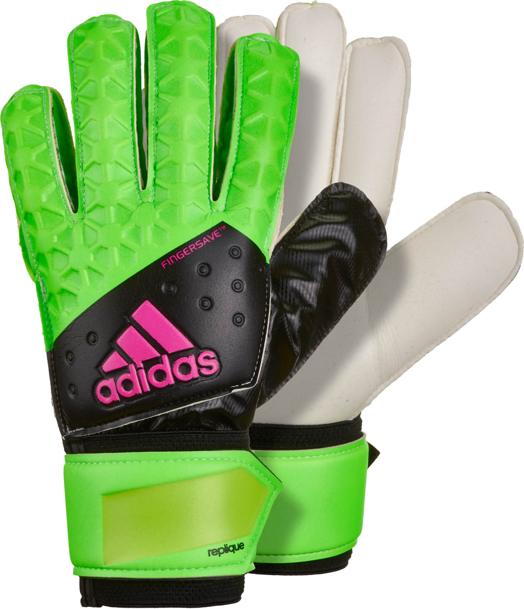 special for shoe sale best supplier adidas ACE Fingersave Replique Goalkeeper Gloves - Solar Green ...