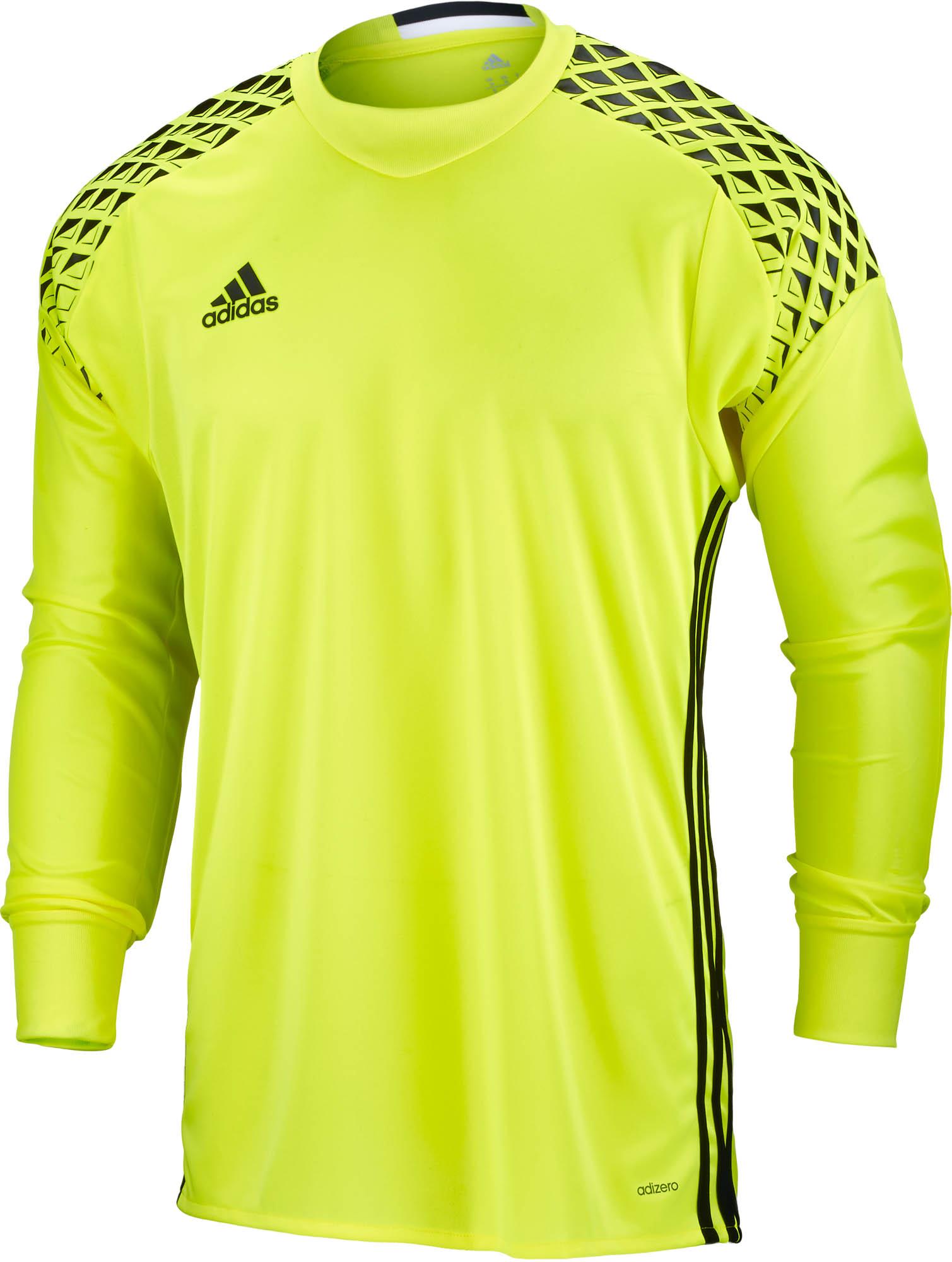 adidas Kids Onore 16 Goalkeeper Jersey - Solar Yellow/Black ...