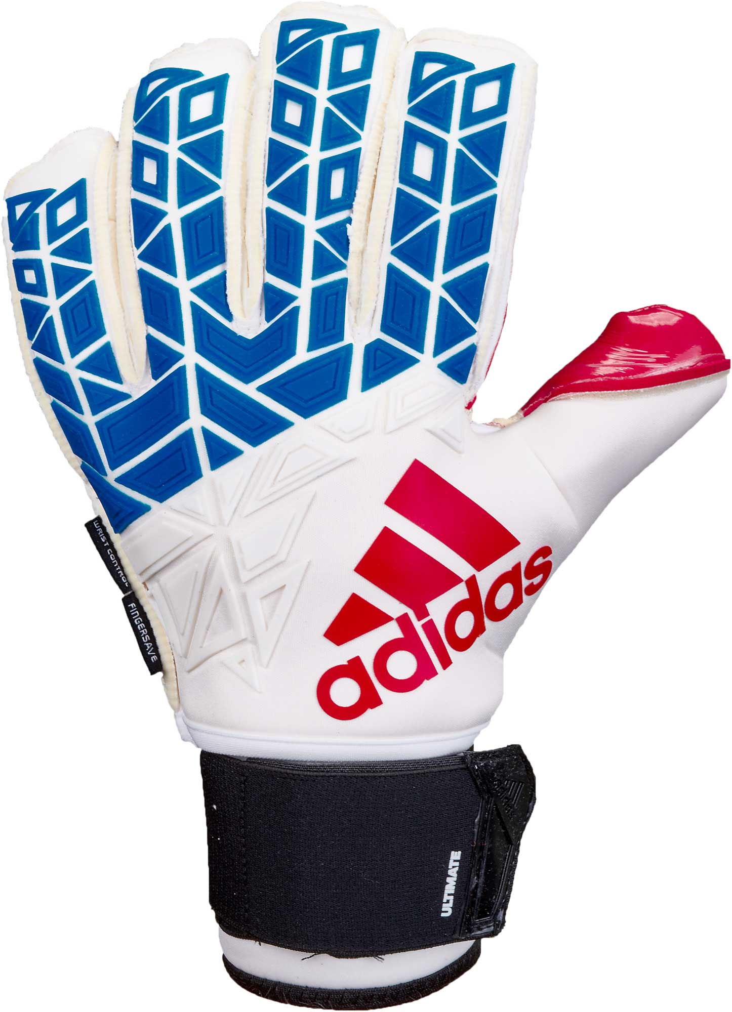 the latest fac89 16dd5 adidas ACE Trans Ultimate Goalkeeper Gloves - White & Blue ...