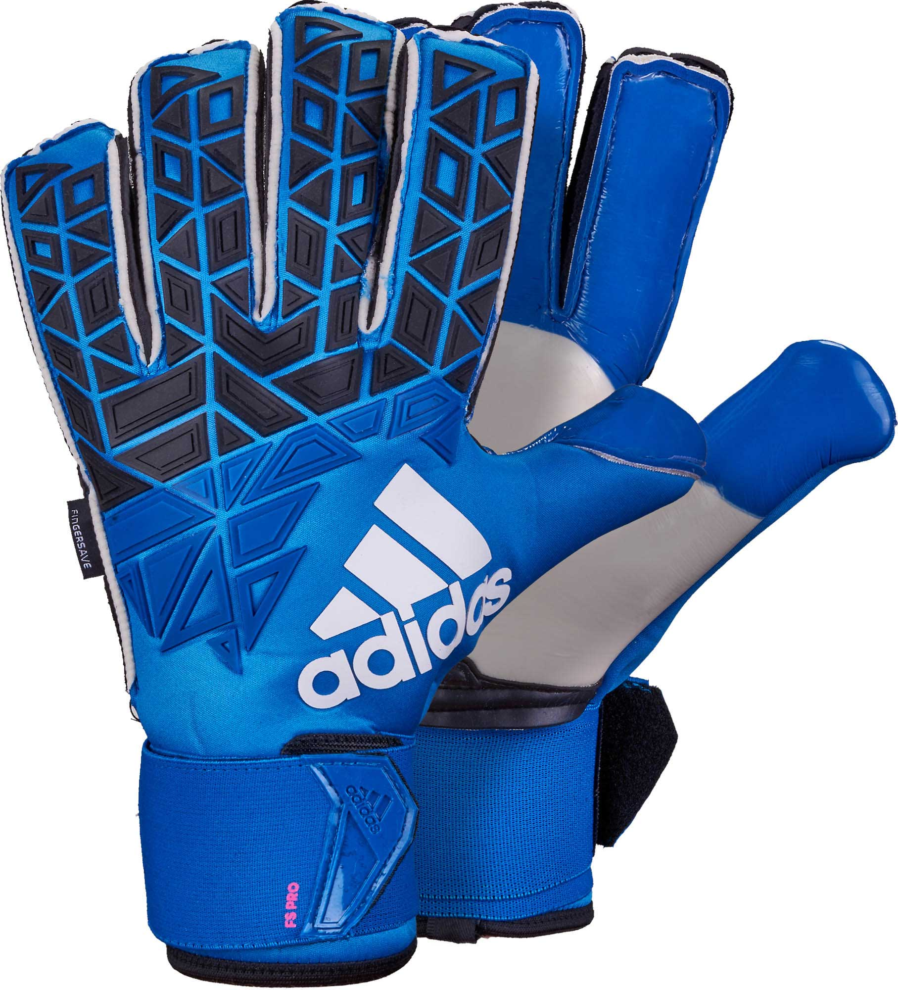 adidas ACE Trans Fingersave Pro Goalkeeper Gloves – Blue   Shock Pink 2578f93062