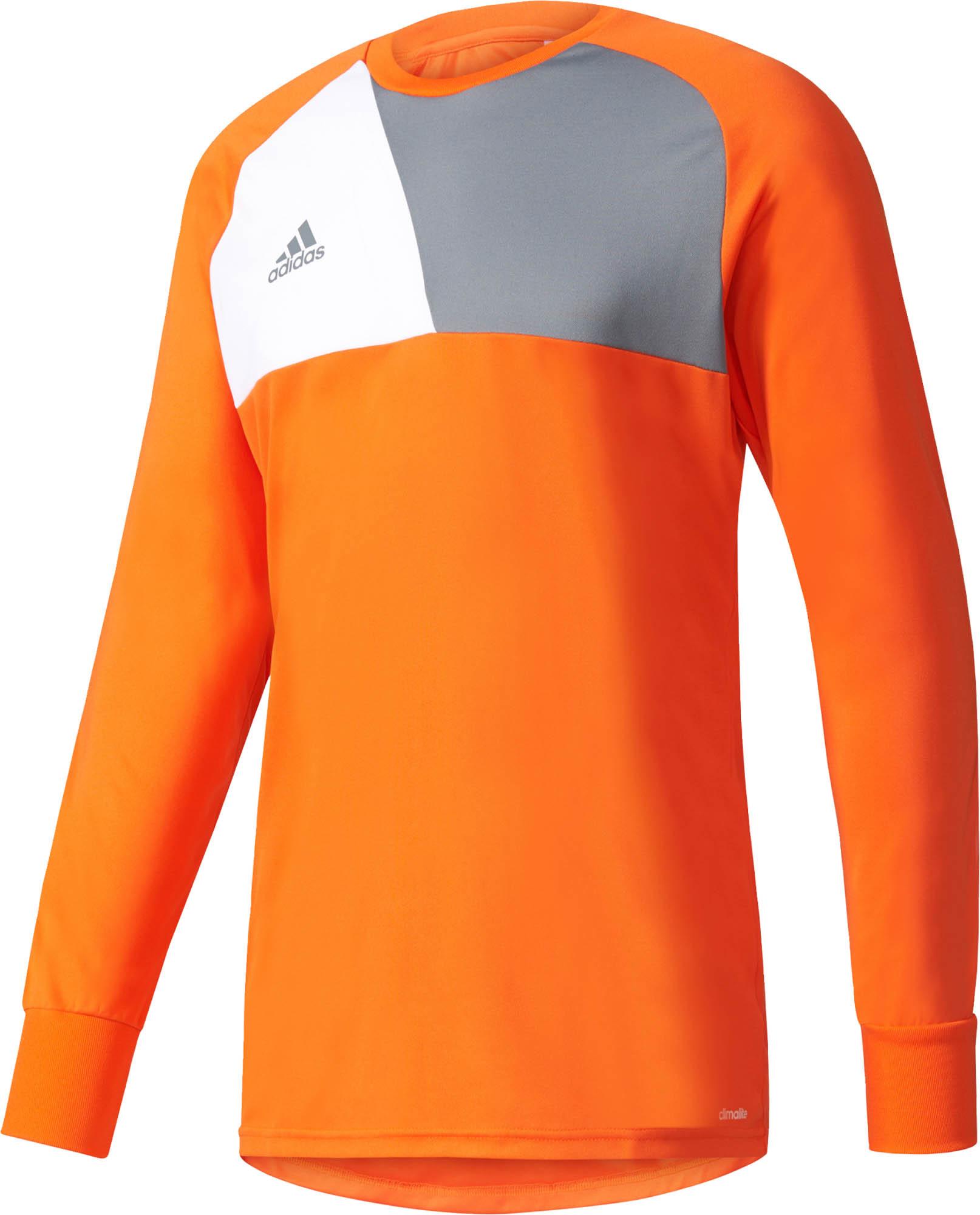 adidas Kids Assita 17 Goalkeeper Jersey - Orange & White - Soccer ...