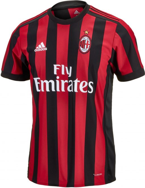 adidas AC Milan Home Jersey 2017-18 - Soccer Master