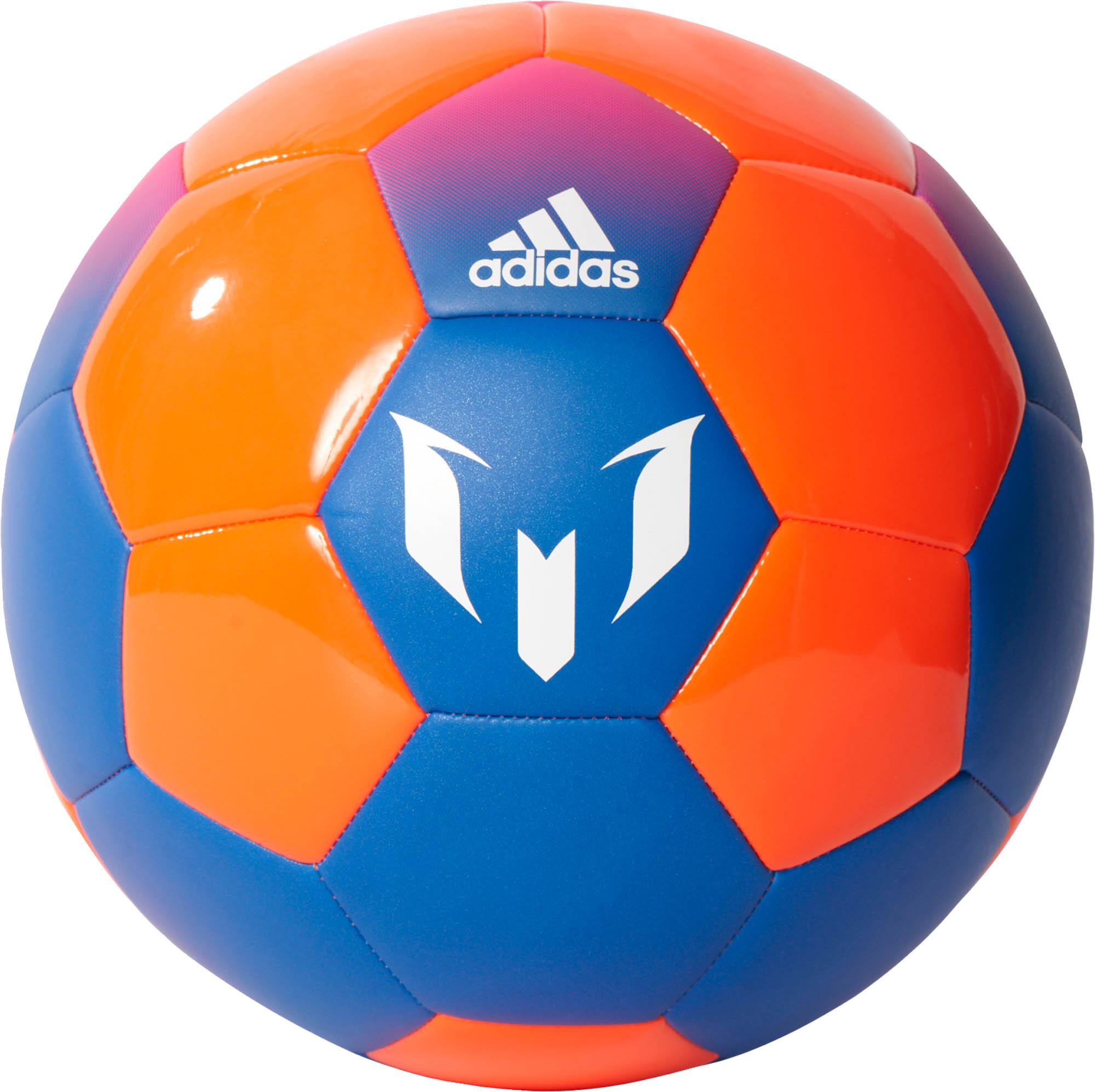 adidas messi soccer ball blue solar orange soccer master