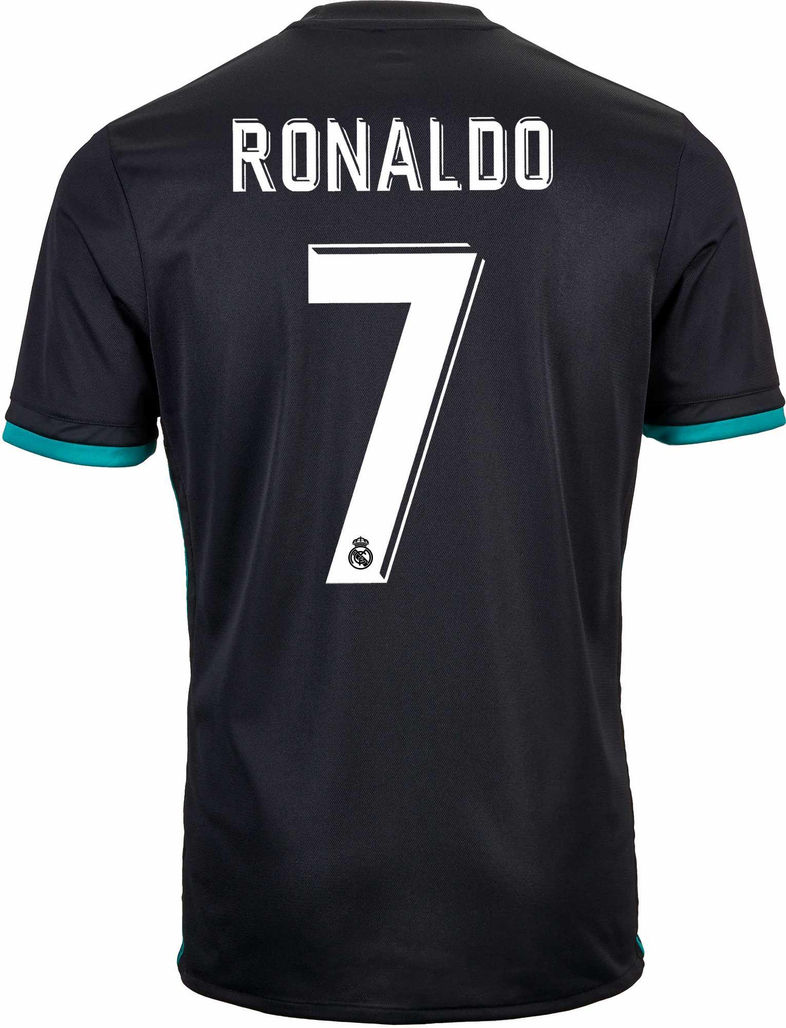 adidas Kids Cristiano Ronaldo Real Madrid Away Jersey 2017-18 ... 579c9560f