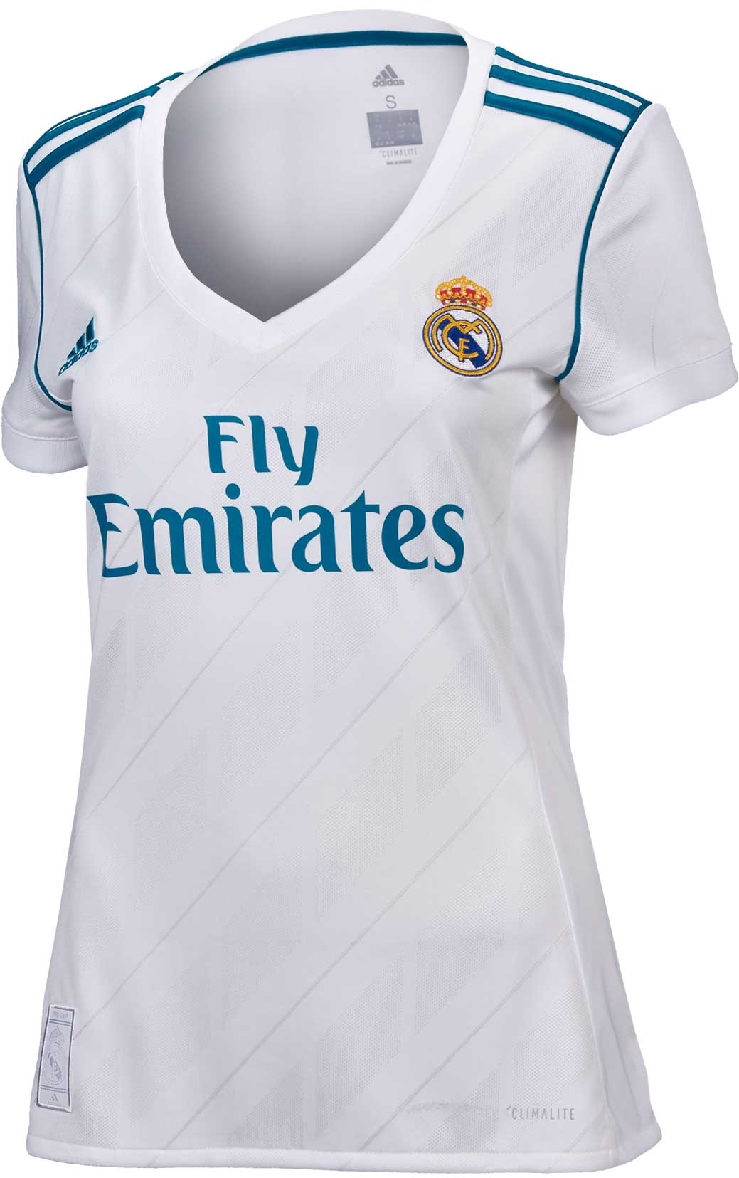 reputable site df1e7 f72c5 adidas Womens Real Madrid Home Jersey 2017-18