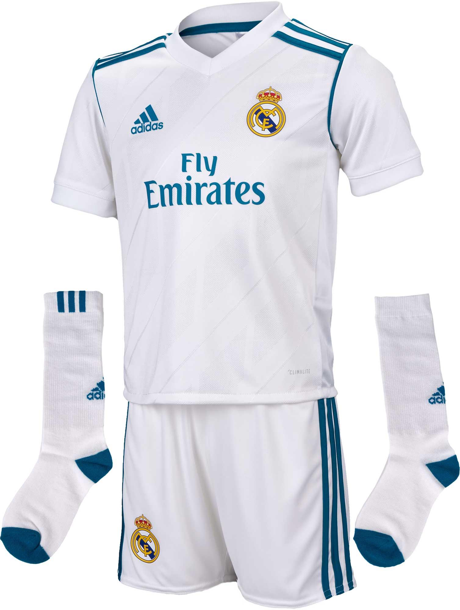 adidas Kids Real Madrid Home Mini Kit 2017-18 - Soccer Master 348527398