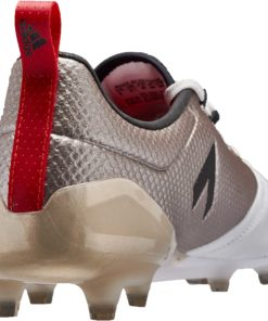 14ad79e54 adidas Womens ACE 17.1 FG Soccer Cleats - Metallic Platinum   Red - Soccer  Master