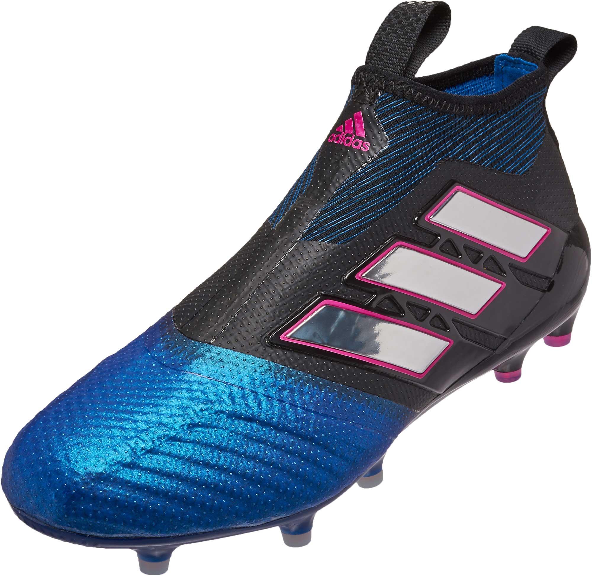 save off e4bce 99e8c adidas ACE 17+ Purecontrol FG Soccer Cleats – Black   Blue