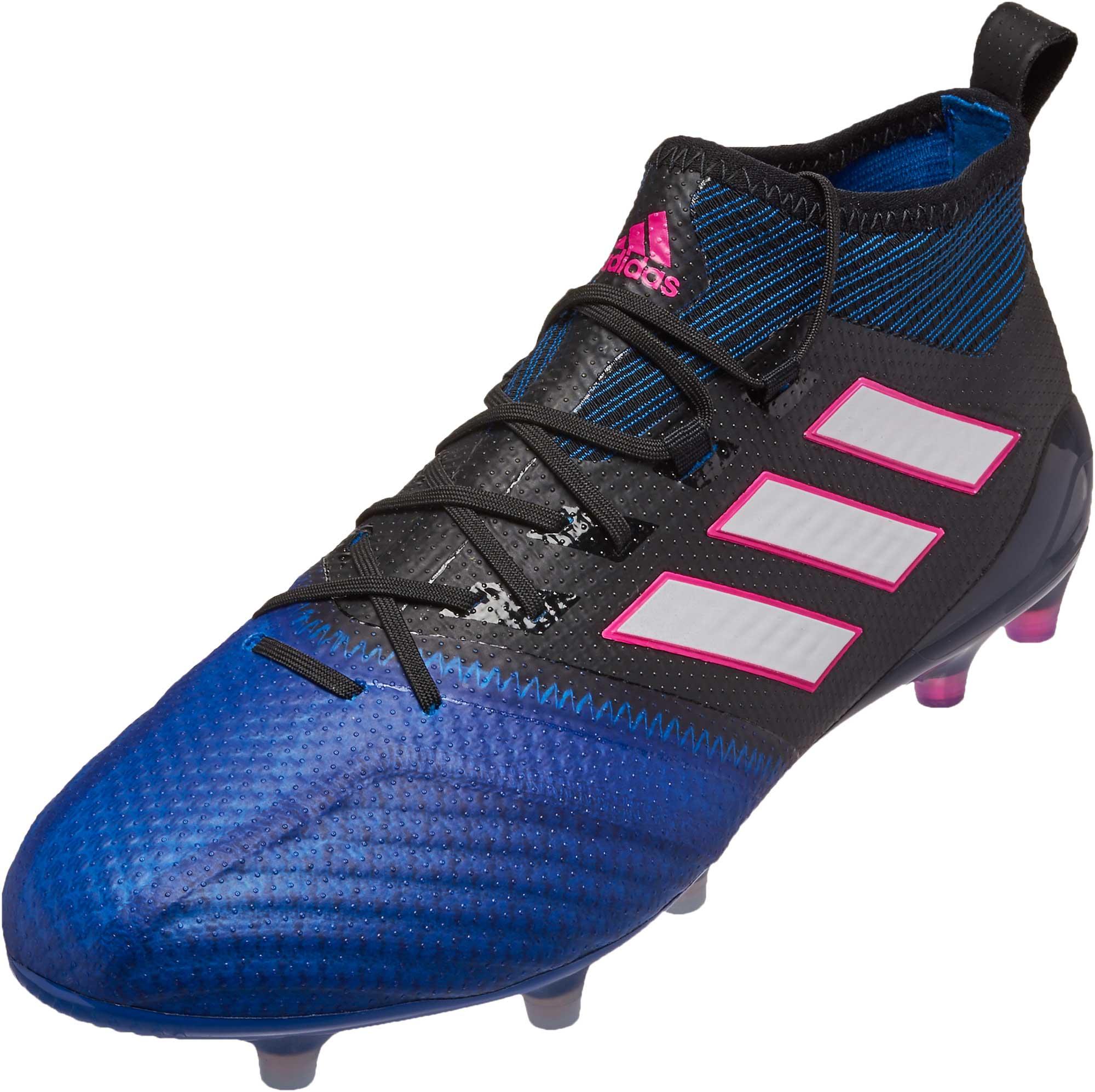 100% authentic 75ab0 75651 adidas ACE 17.1 Primeknit FG - Black & Blue - Soccer Master