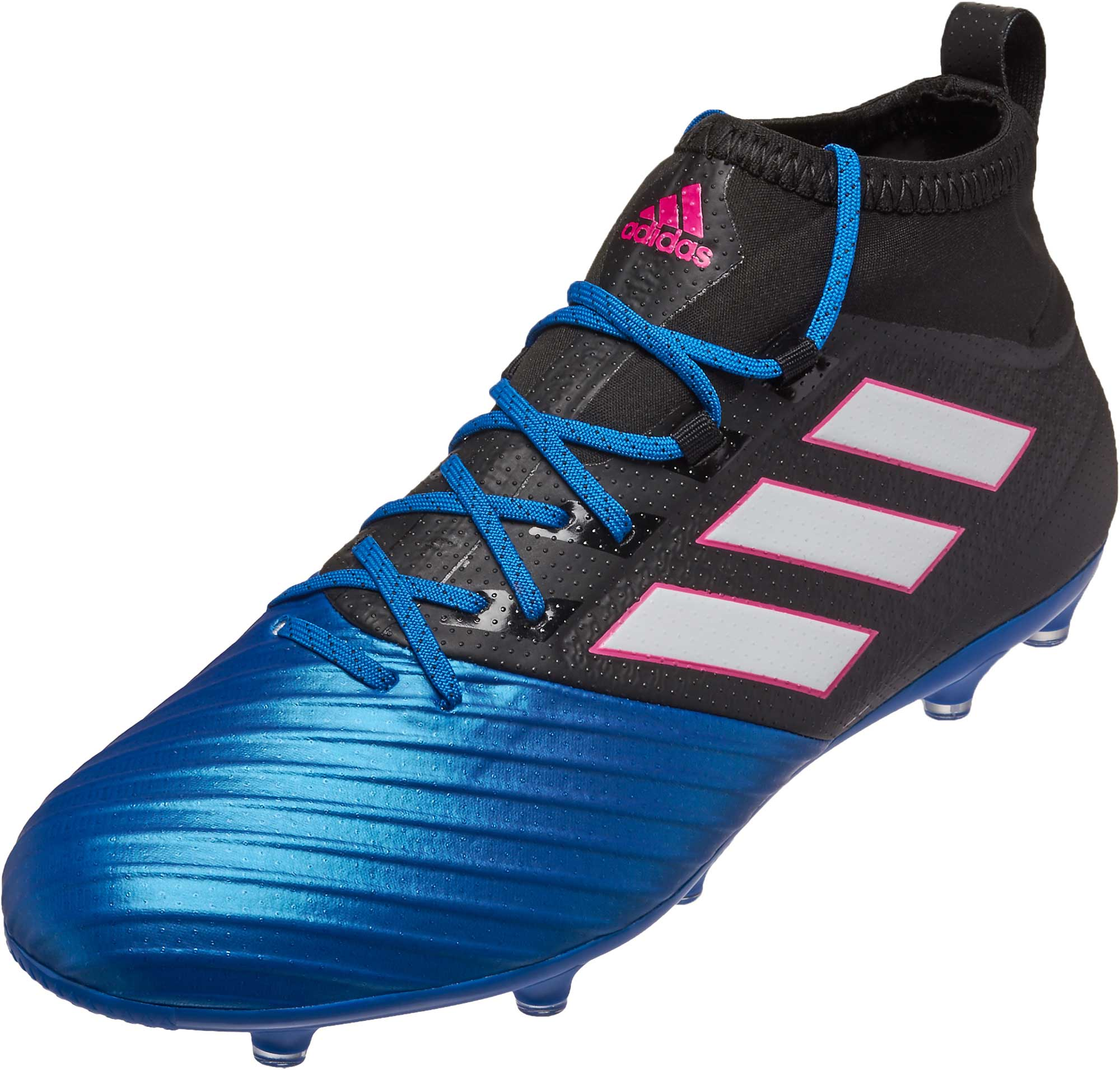 adidas ACE 17.2 Primemesh FG Soccer Cleats - Black & Blue ...