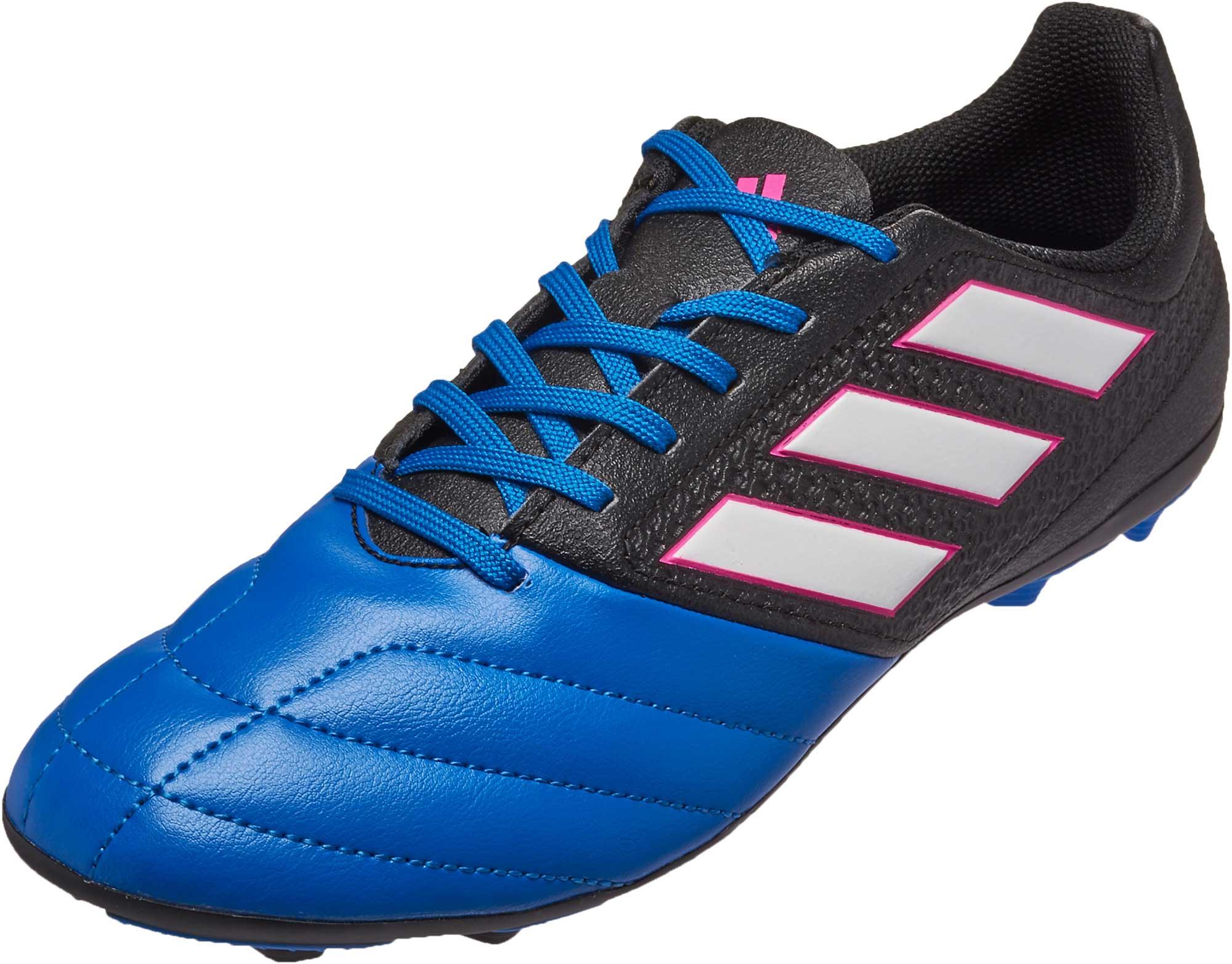 d20c3679782b adidas Kids ACE 17.4 FG Soccer Cleats - Black   Blue - Soccer Master