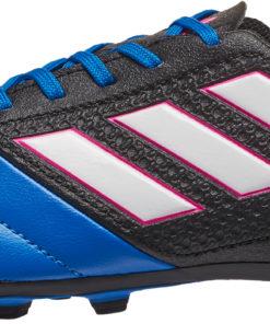 adidas Kids ACE 17.4 FG Soccer Cleats - Black   Blue - Soccer Master eea1a34cb3d