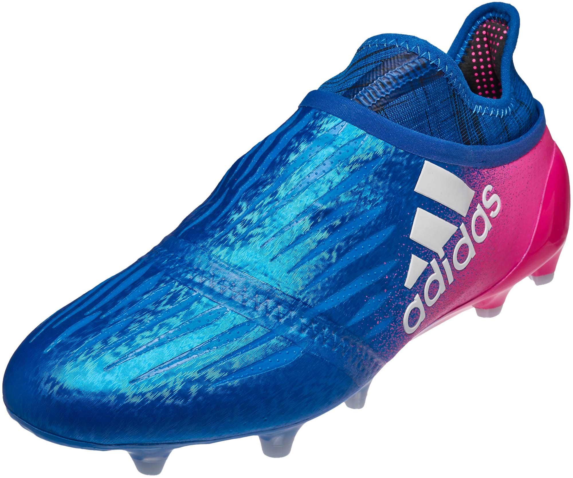 756c8d18f adidas X 16+ Purechaos FG Soccer Cleats - Blue   Shock Pink - Soccer ...