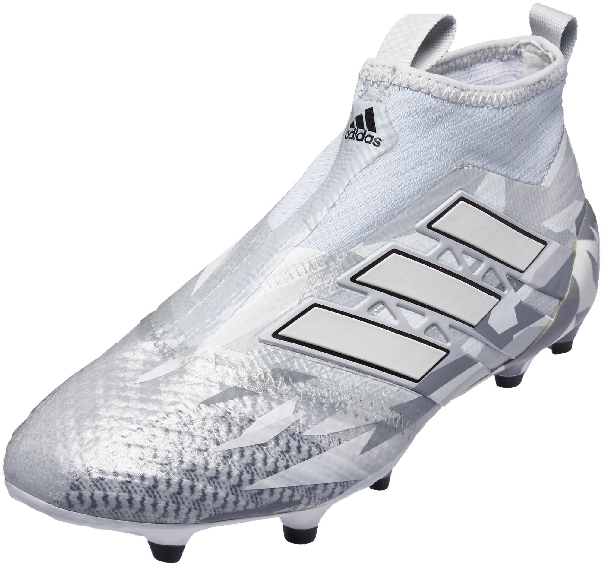 212803fb adidas Kids ACE 17+ Purecontrol FG Soccer Cleats - Clear Grey & White