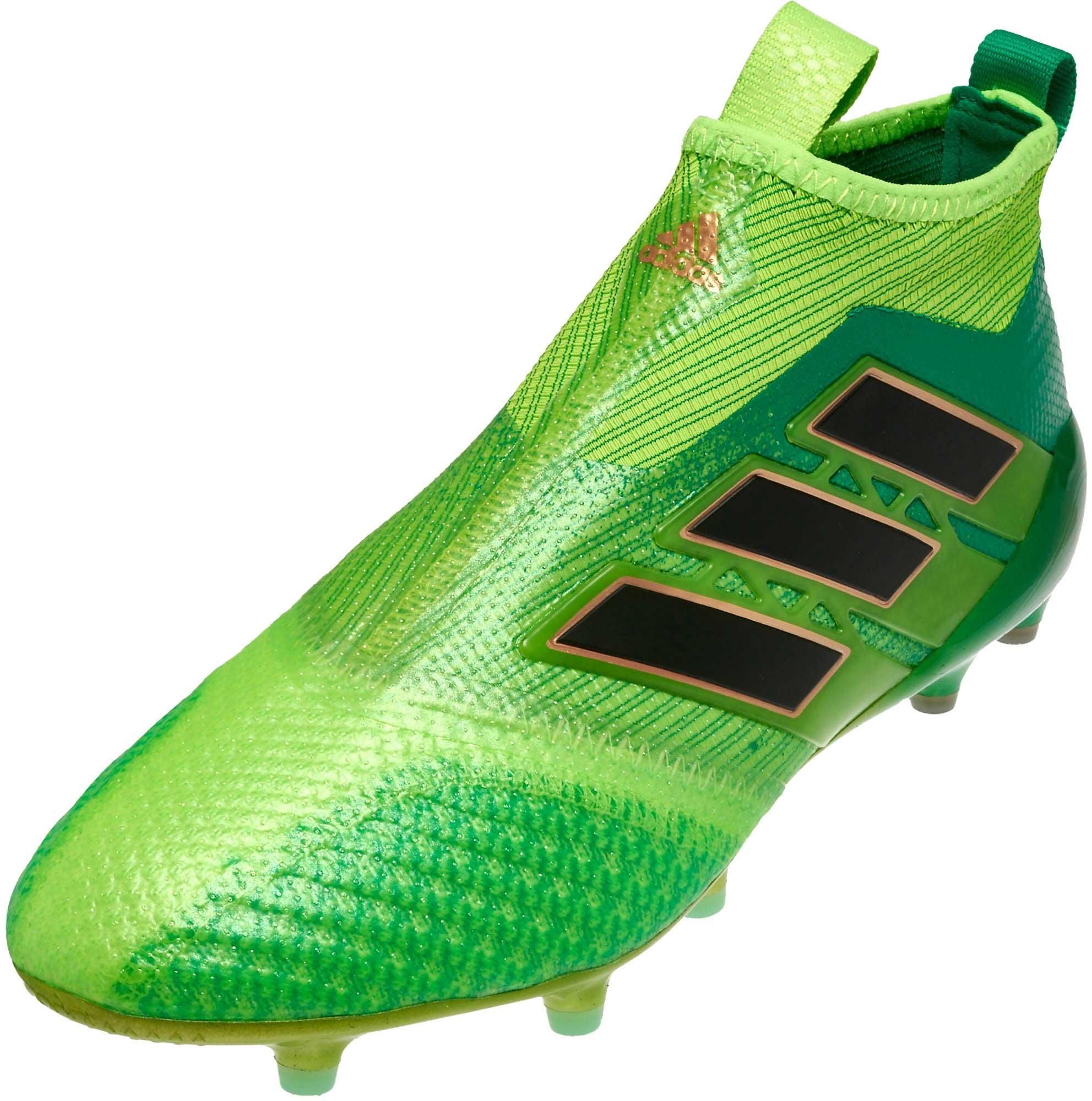 36db7ab053d adidas ACE 17+ Purecontrol FG Soccer Cleats - Solar Green   Black ...