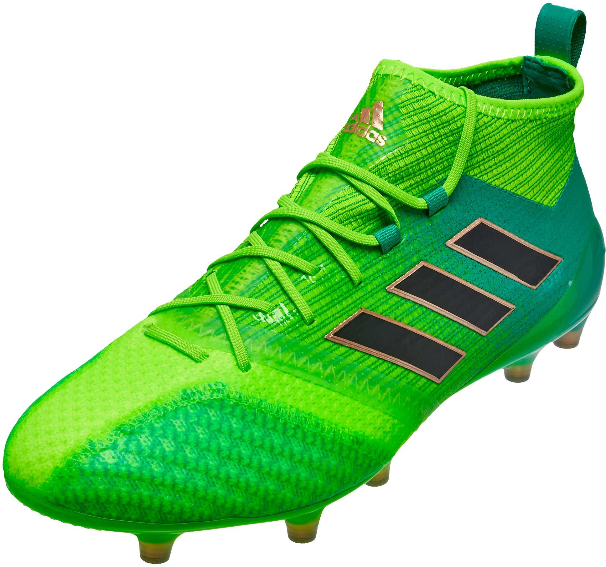 superior quality cb015 bca50 adidas ACE 17.1 Primeknit FG Soccer Cleats – Solar Green   Black