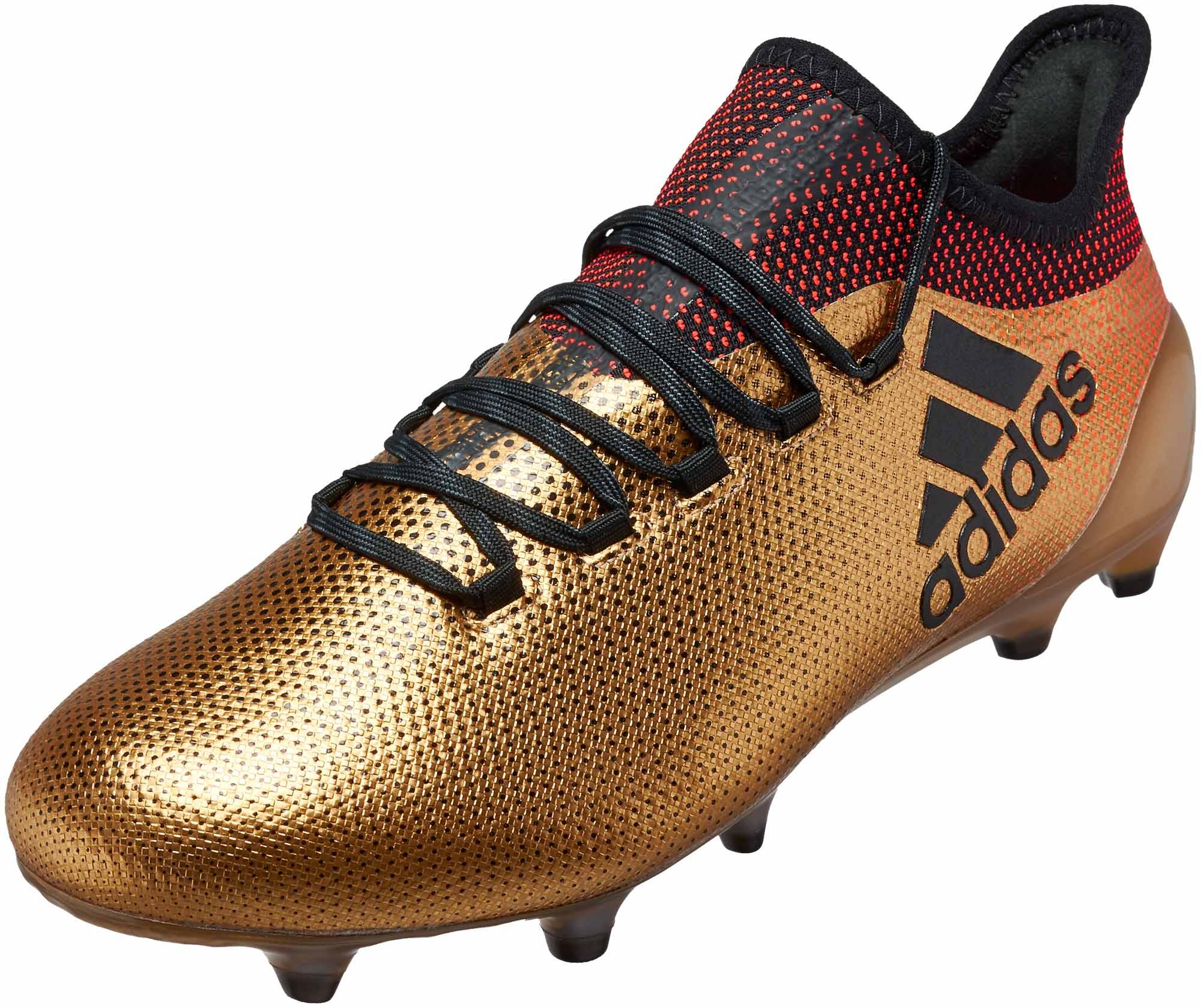 timeless design 1c25f 1450f adidas X 17.1 FG - Tactile Gold Metallic & Solar Red - Soccer ...