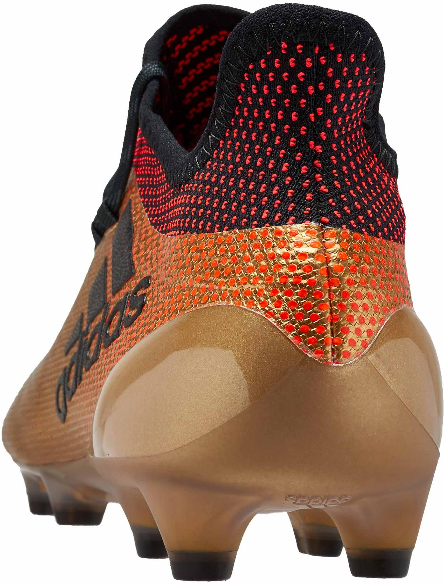 683340937a33 adidas X 17.1 FG - Tactile Gold Metallic & Solar Red - Soccer Master