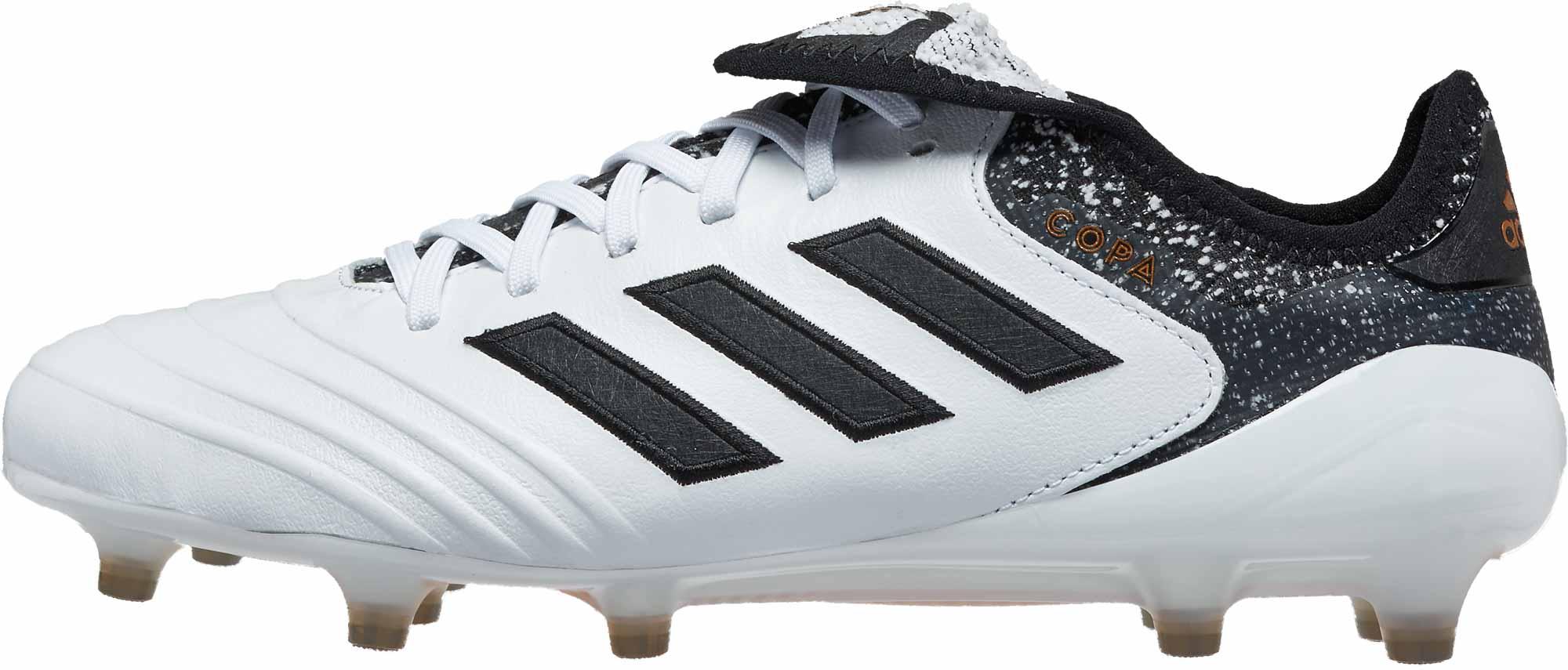 e4b2c7854fb8 adidas Copa 18.1 FG - White   Tactile Gold Metallic - Soccer Master