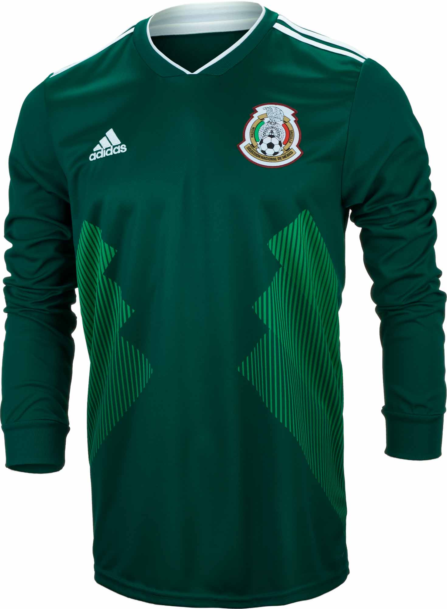 b59eecf986b adidas Mexico L S Home Jersey 2018-19 - Soccer Master