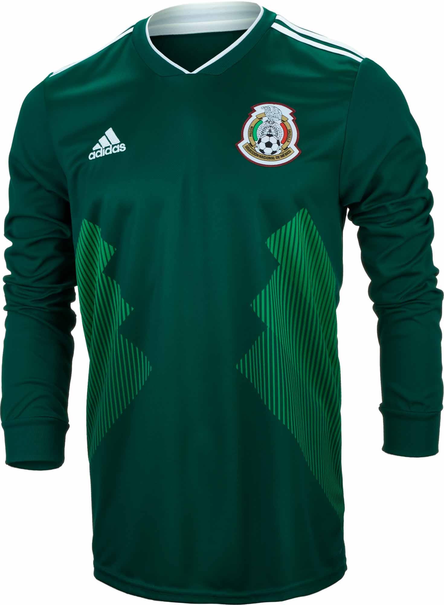e04c03f5f88 adidas Mexico L S Home Jersey 2018-19 NS - Soccer Master