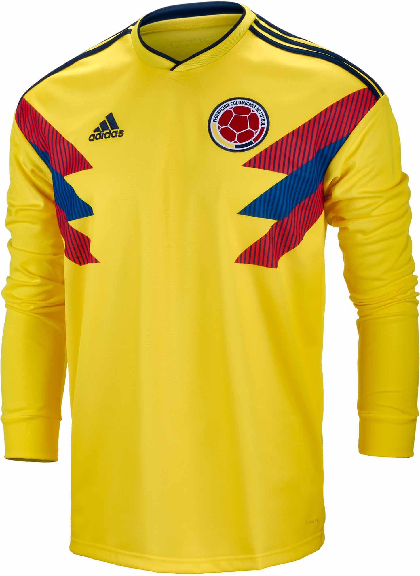 5796e2757 2018 19 adidas Colombia L S Home Jersey - Soccer Master