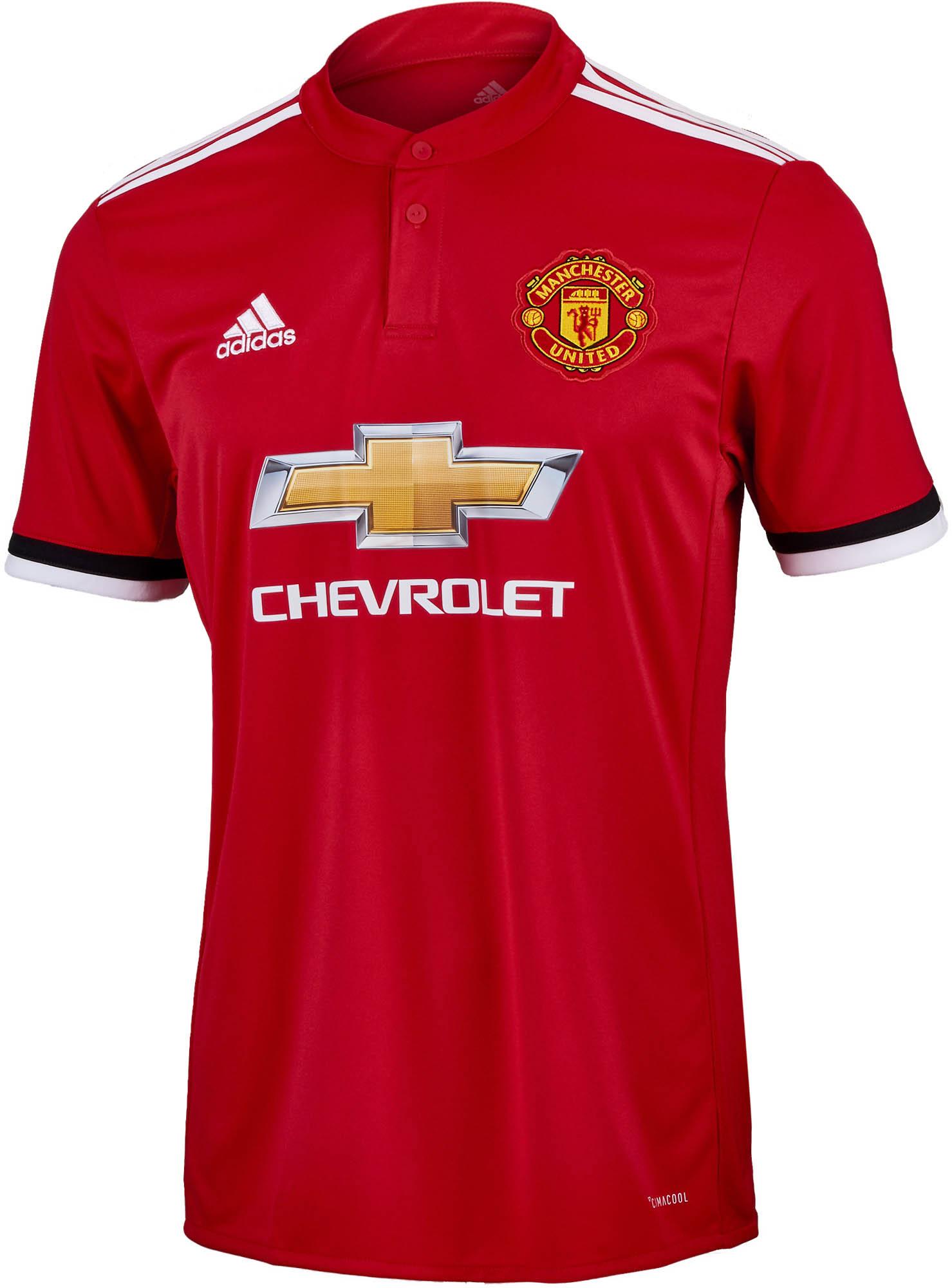 deaa3fd1440 2017/18 adidas Manchester United Home Jersey - Soccer Master