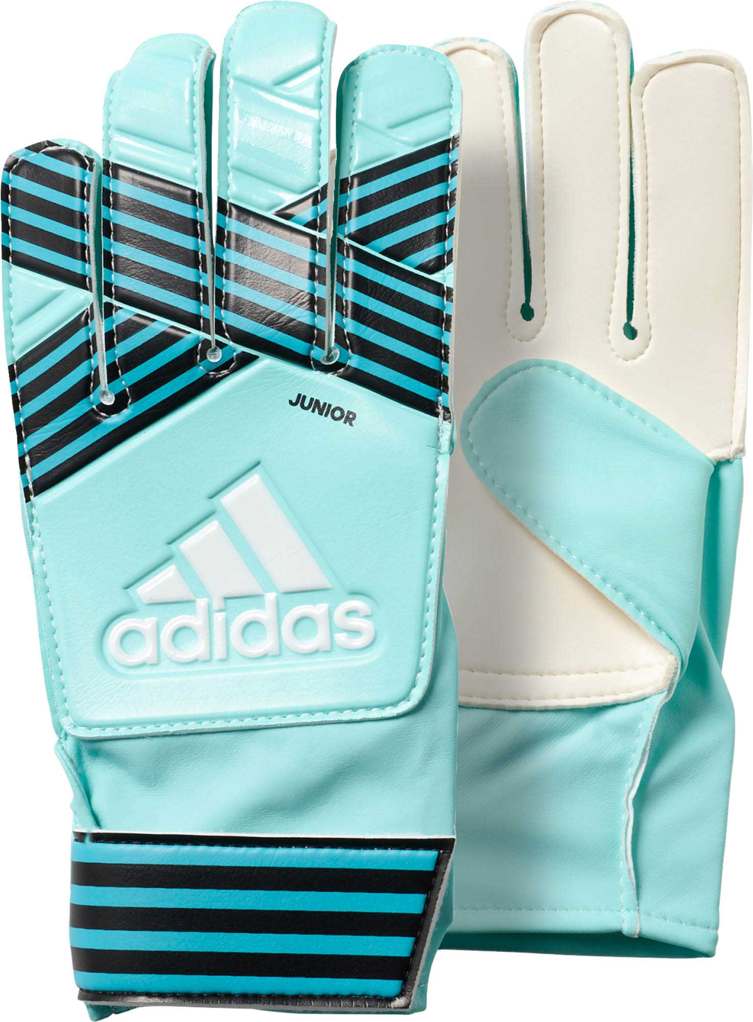 Adidas Kids Ace Goalkeeper Gloves Energy Aqua Energy Blue