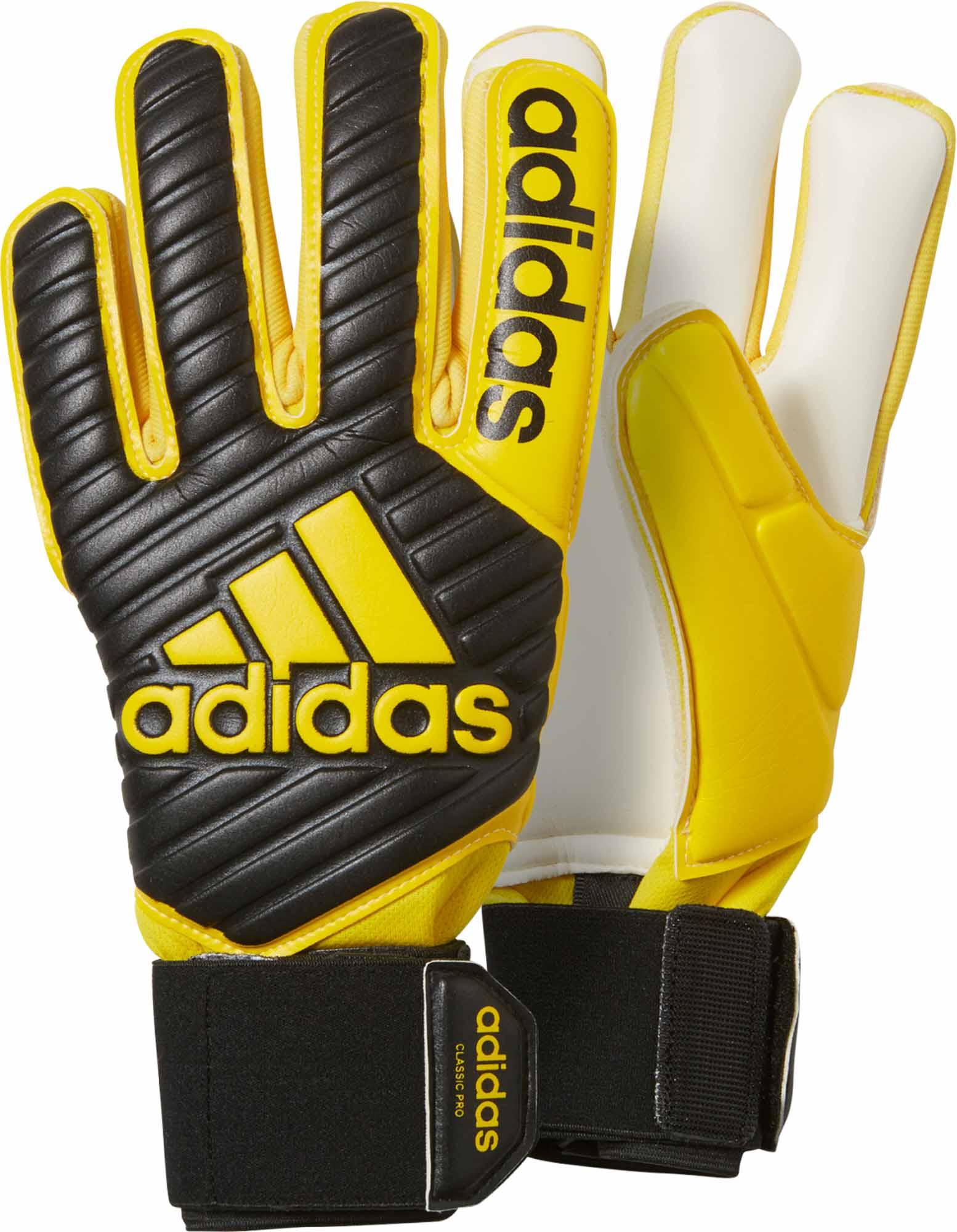 adidas Classic Pro Goalkeeper Gloves Black & Yellow