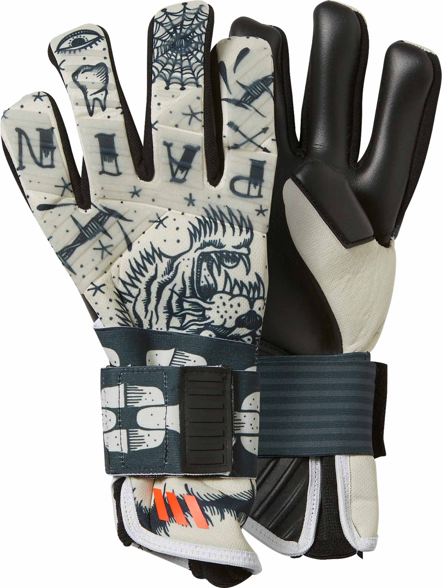 check out e02e1 f6b37 adidas ACE 2-Face Goalkeeper Gloves - White & Black ...