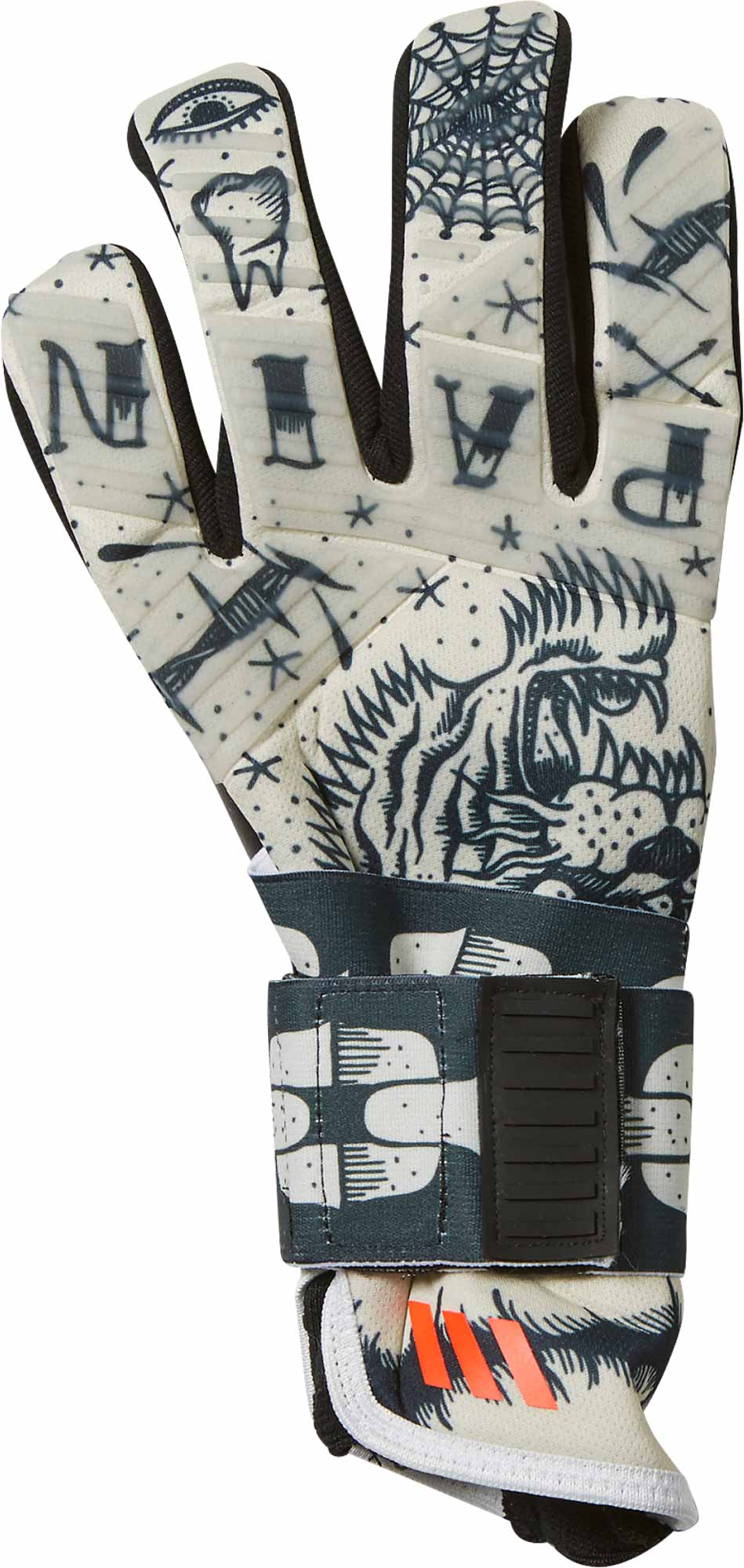 release date 1a668 613b9 adidas ACE 2-Face Goalkeeper Gloves - White & Black - Soccer ...
