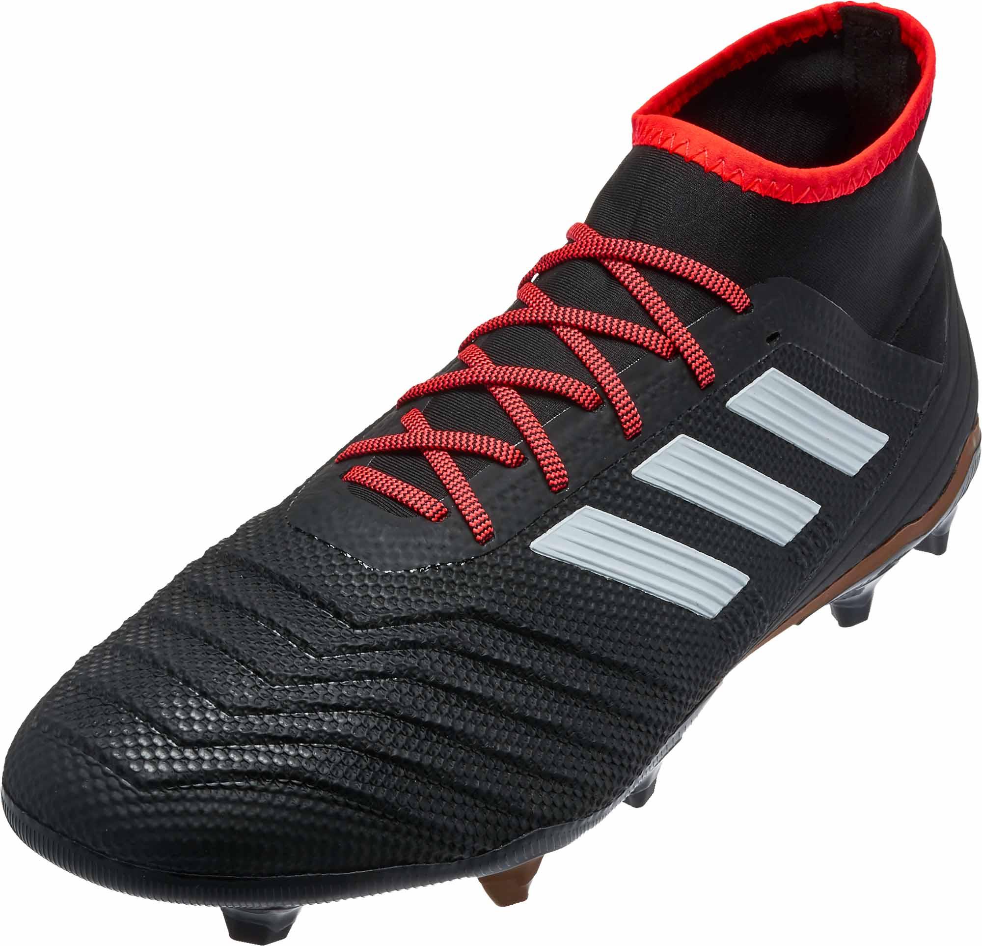 adidas Predator 18.2 FG - Black   Solar Red - Soccer Master 480d2d07b