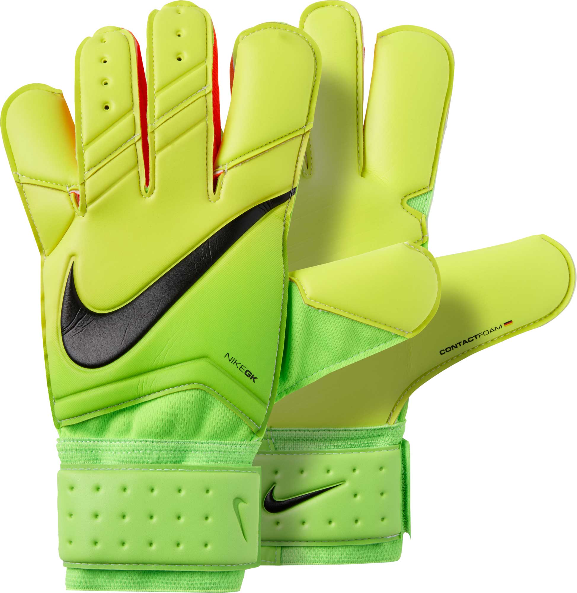 0e74991c5 Nike Vapor Grip 3 Goalkeeper Gloves - Electric Green & Volt - Soccer ...