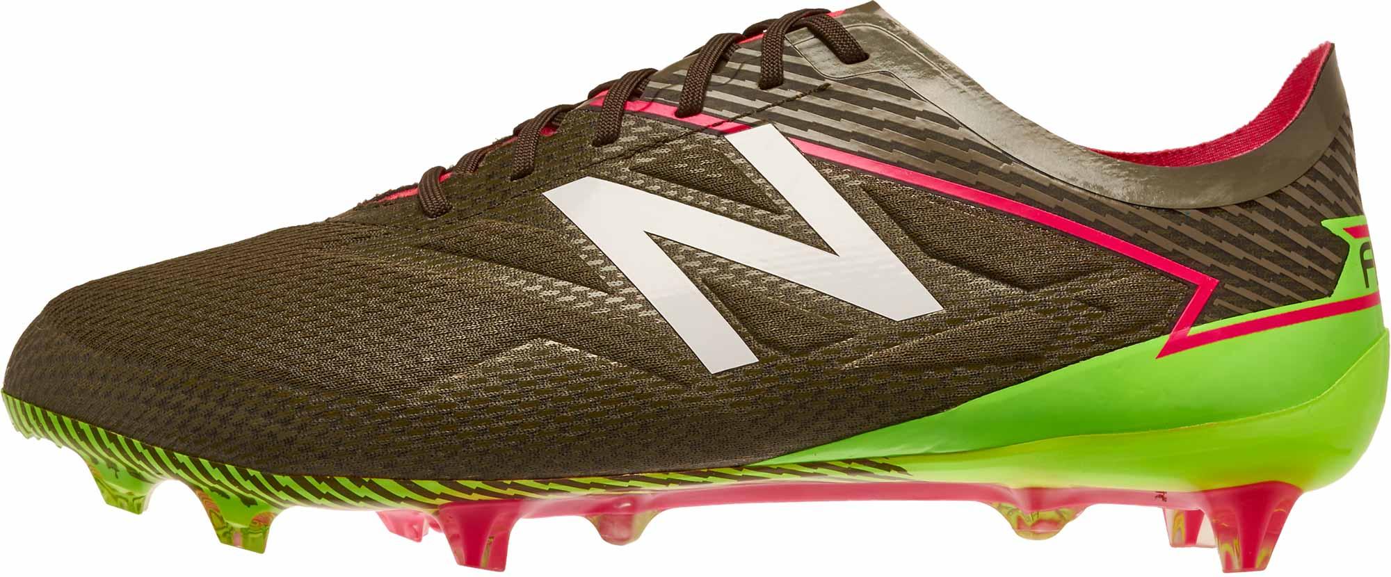 New Balance Furon 3.0 Pro FG Soccer Cleats - Military Dark Triumph & Alpha Pink