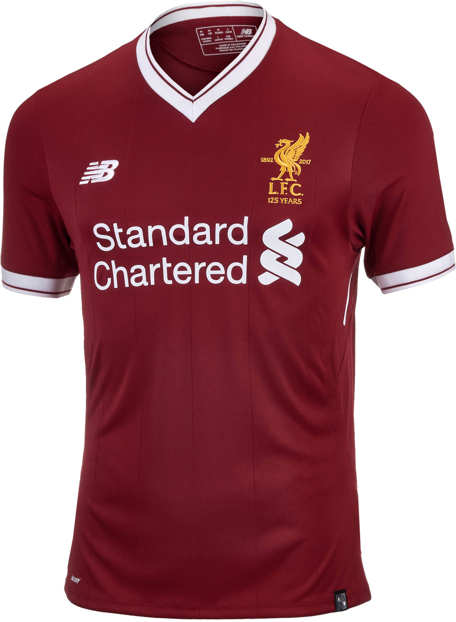3c37063fde3 New Balance Liverpool Authentic Home Jersey 2017-18 - Soccer Master