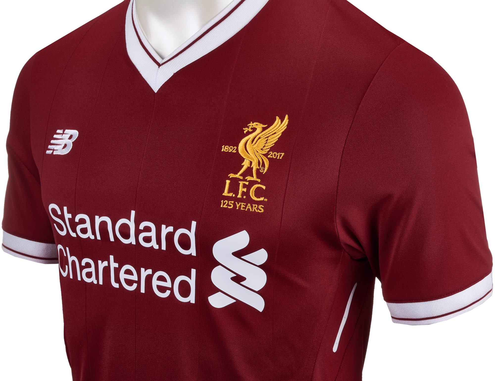 premium selection d2bc1 55d50 New Balance Liverpool Authentic Home Jersey 2017-18 - Soccer ...