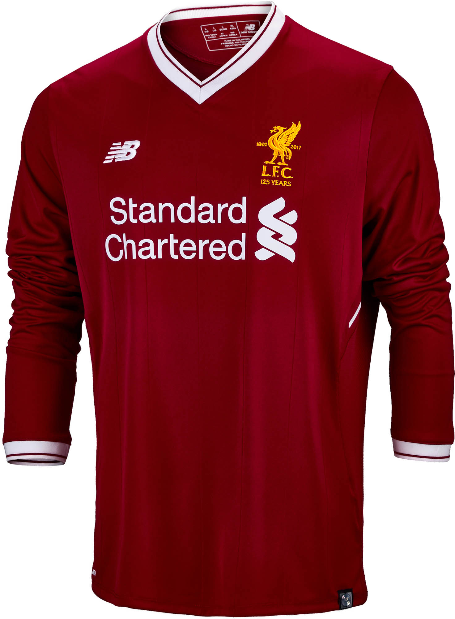 hot sale online 0b0b8 4347d New Balance Liverpool L/S Home Jersey 2017-18 - Soccer ...