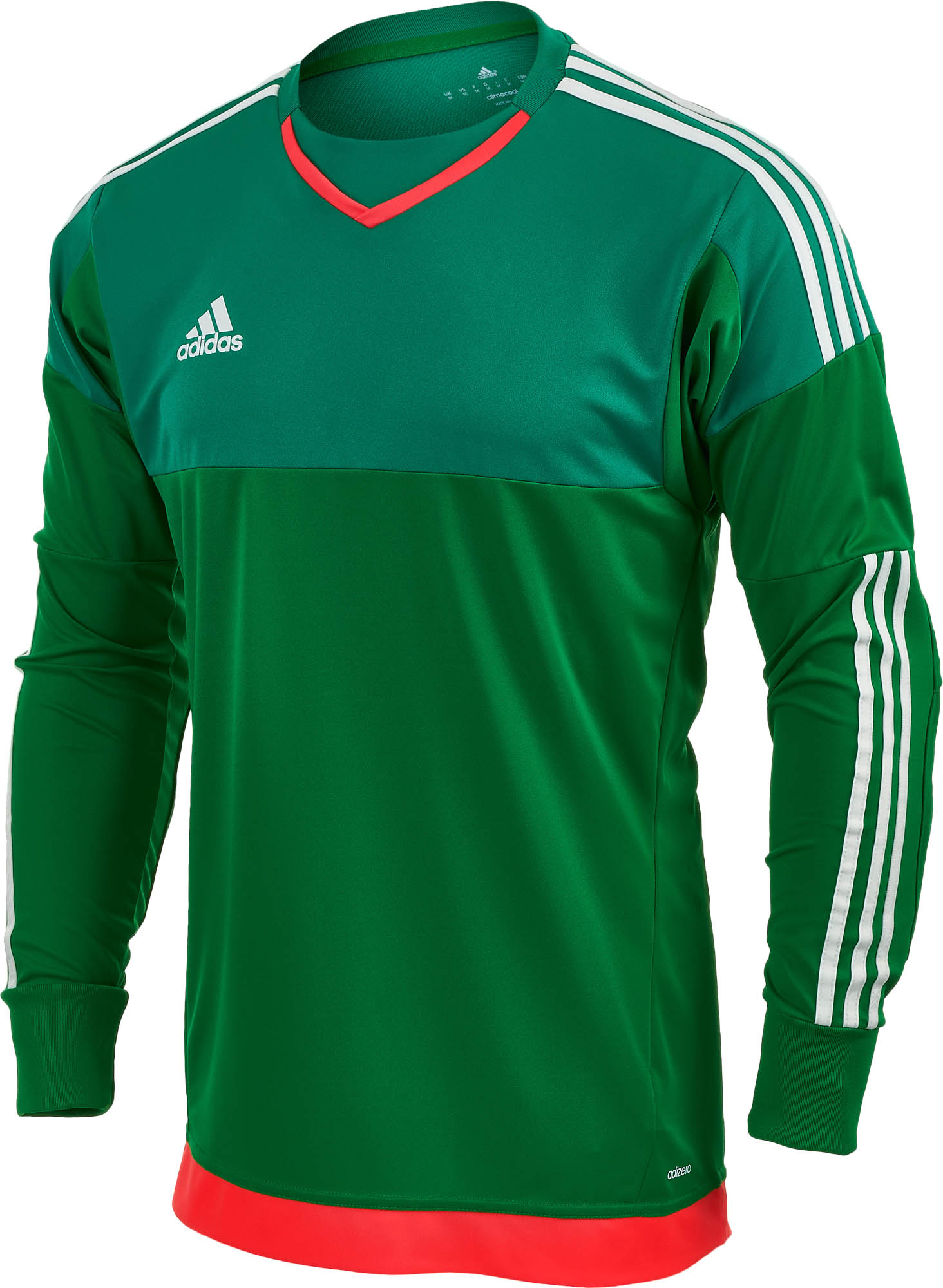f38a2d68a adidas Top Goalkeeper Jersey - Green and White - Soccer Master