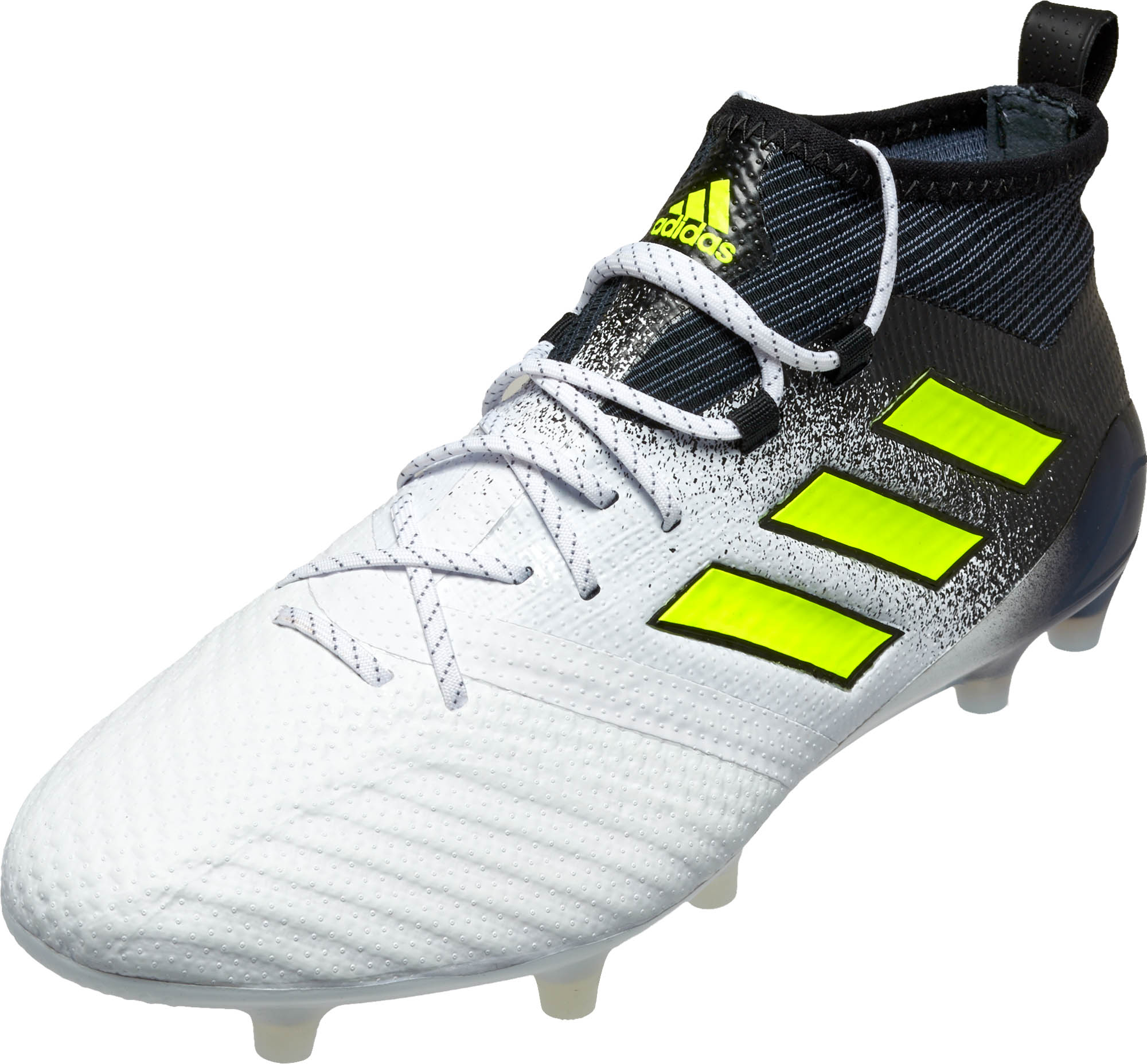 adidas ACE 17.1 FG Soccer Cleats - White & Solar Yellow ...