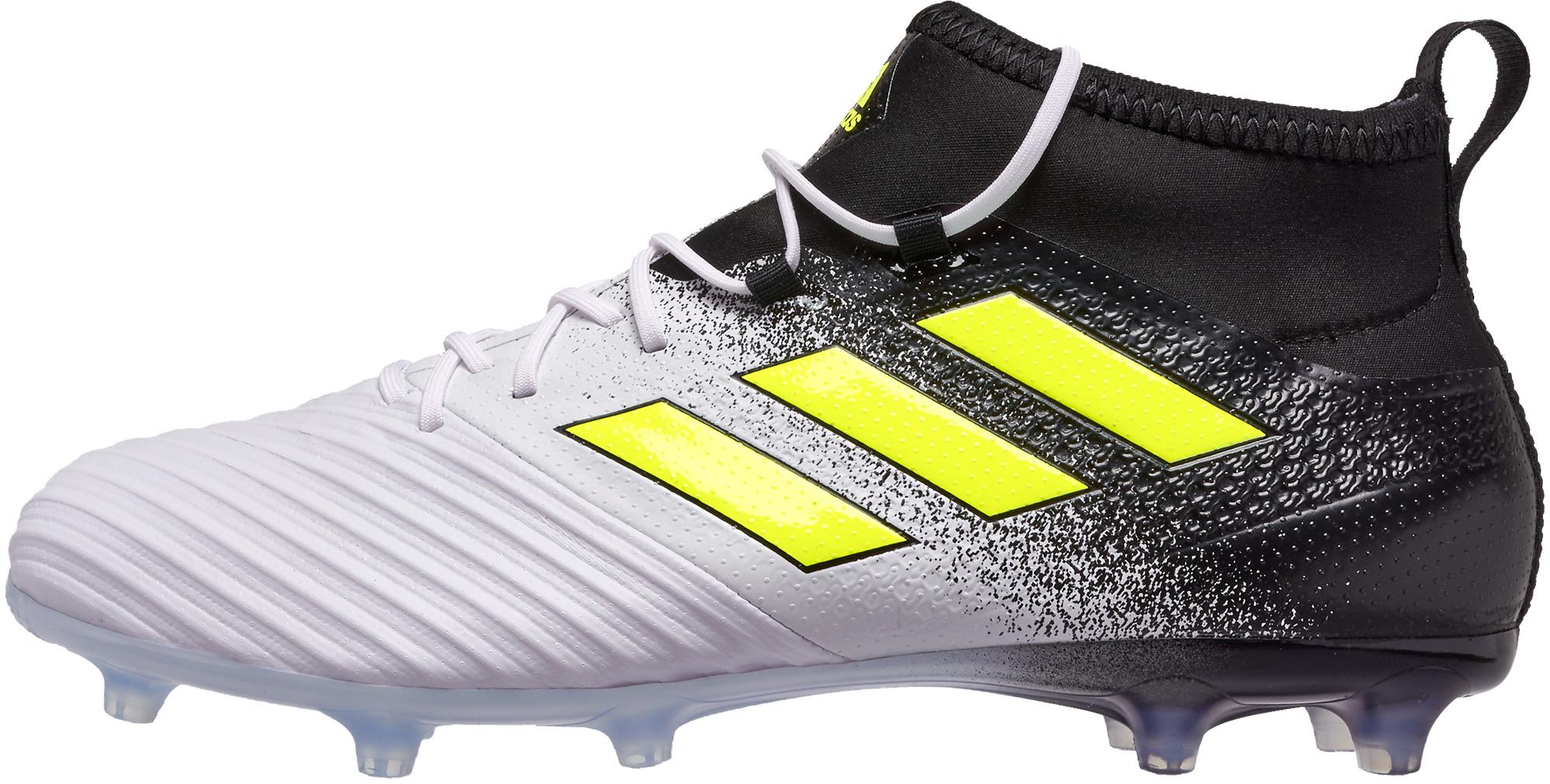 buy popular 81dd7 6a0cc adidas ACE 17.2 FG Soccer Cleats - White & Solar Yellow ...