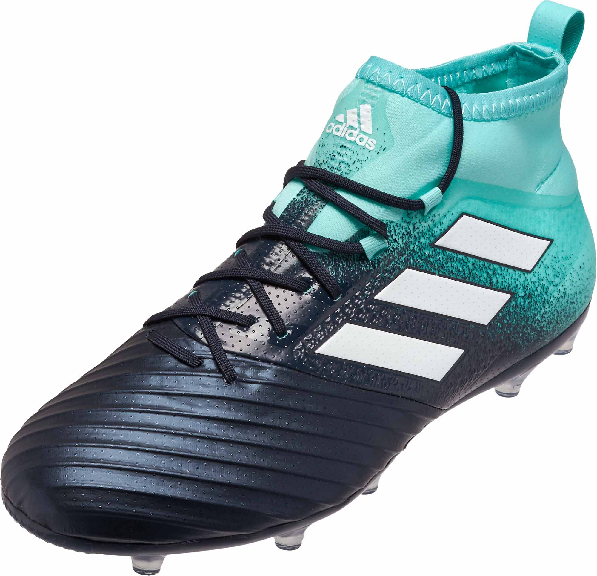 adidas ACE 17.2 FG Soccer Cleats - Energy Aqua & Legend Ink