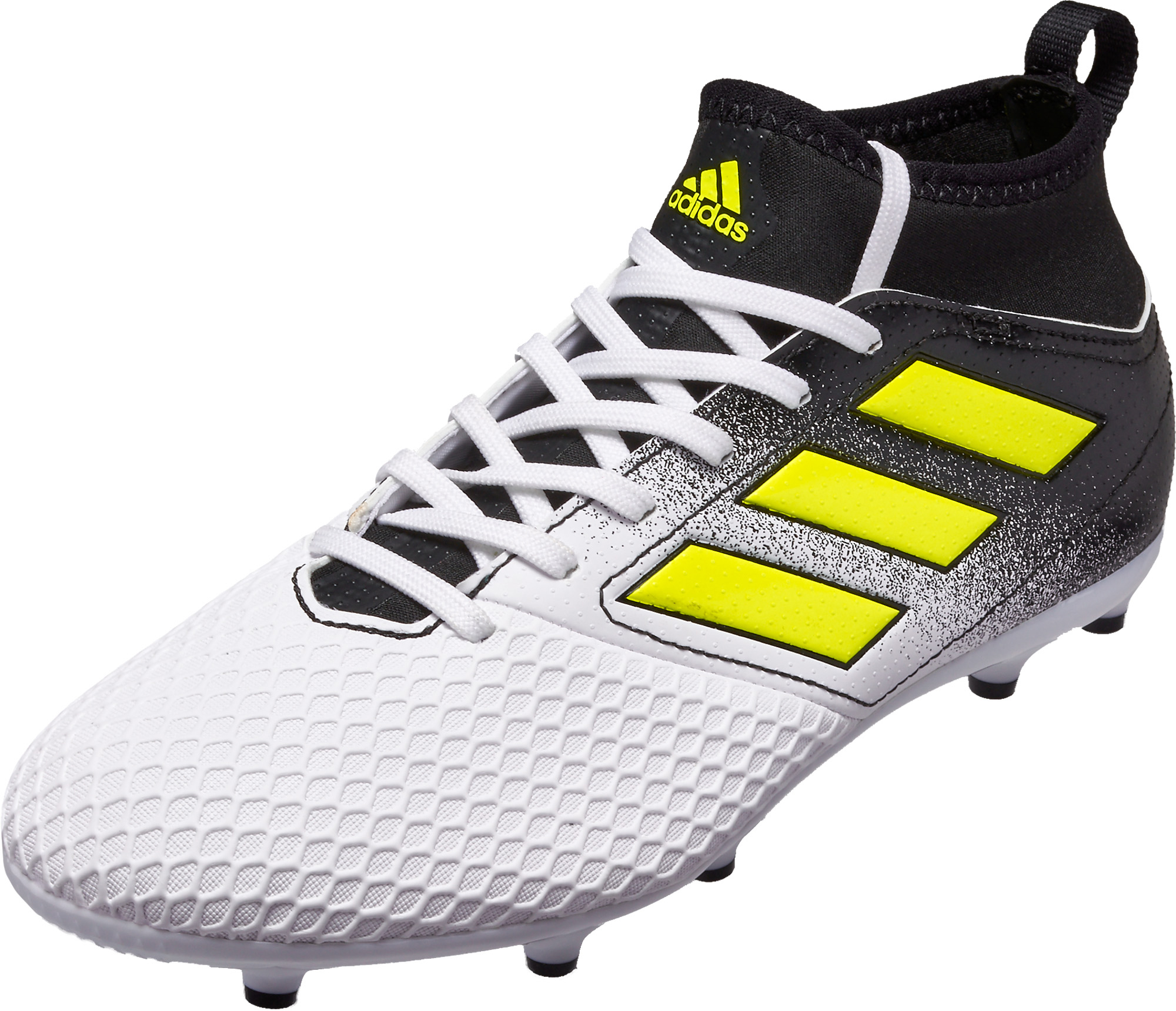 ca99203b60ce adidas Kids ACE 17.3 FG Soccer Cleats - White   Solar Yellow ...