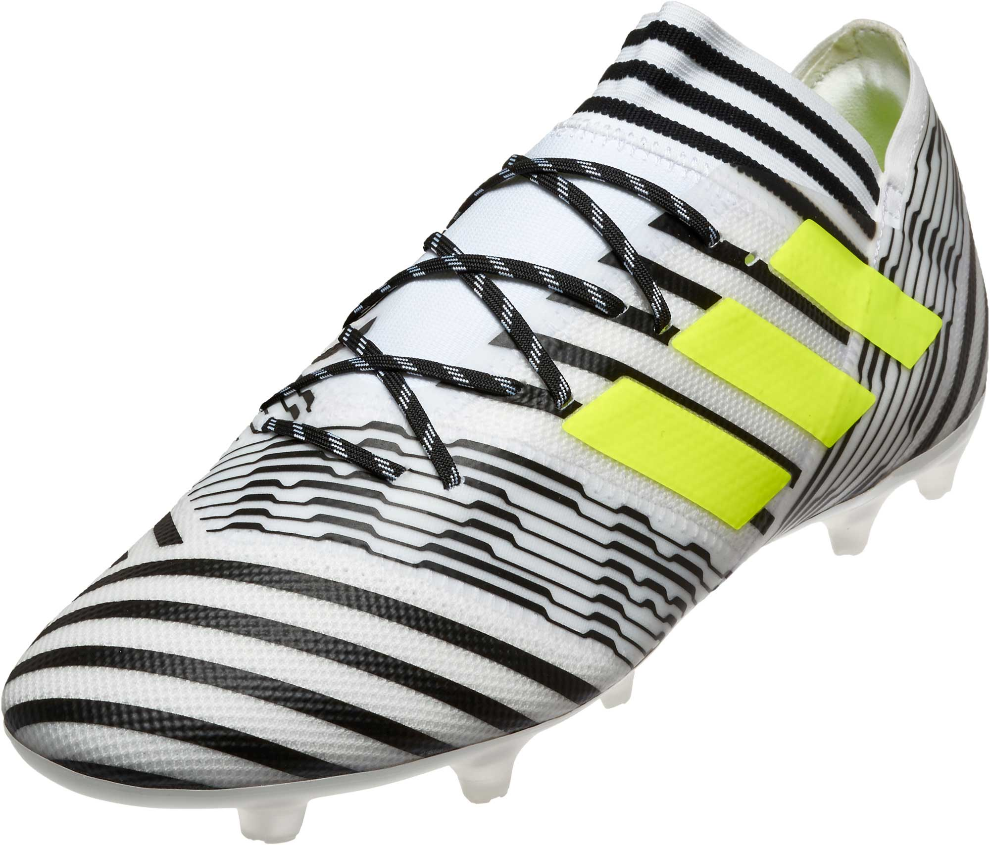 6aeaa55b1286 adidas Nemeziz 17.2 FG Soccer Cleats - White   Solar Yellow ...