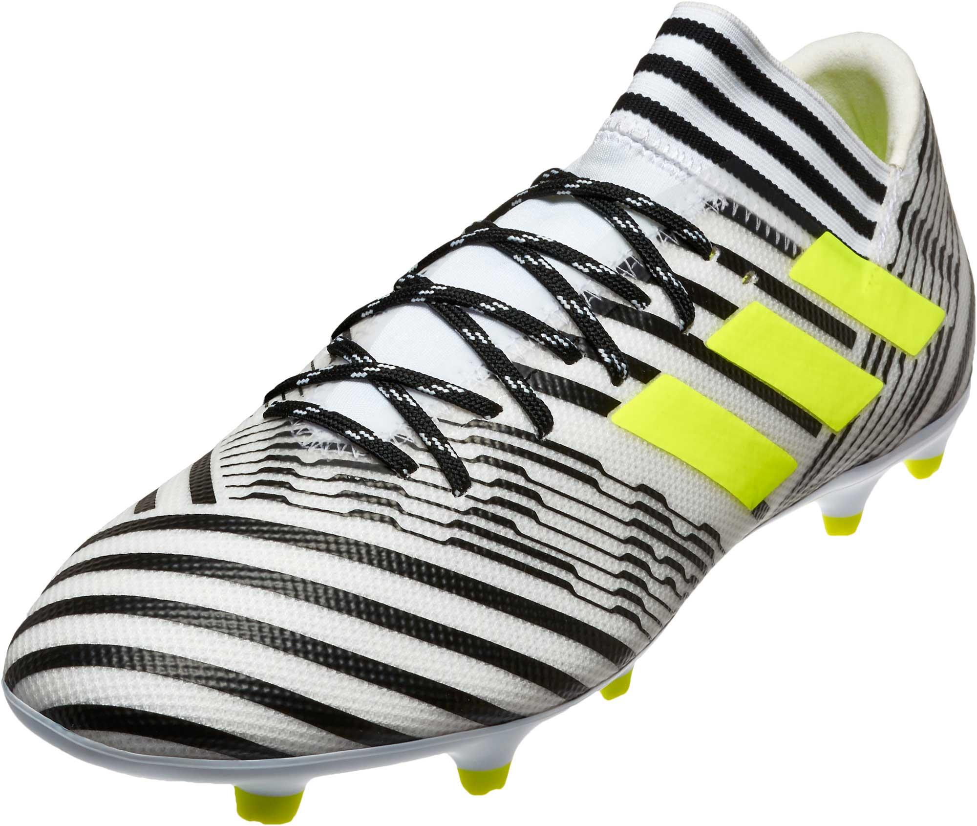 f972df1cd736 adidas Nemeziz 17.3 FG Soccer Cleats - White   Solar Yellow ...
