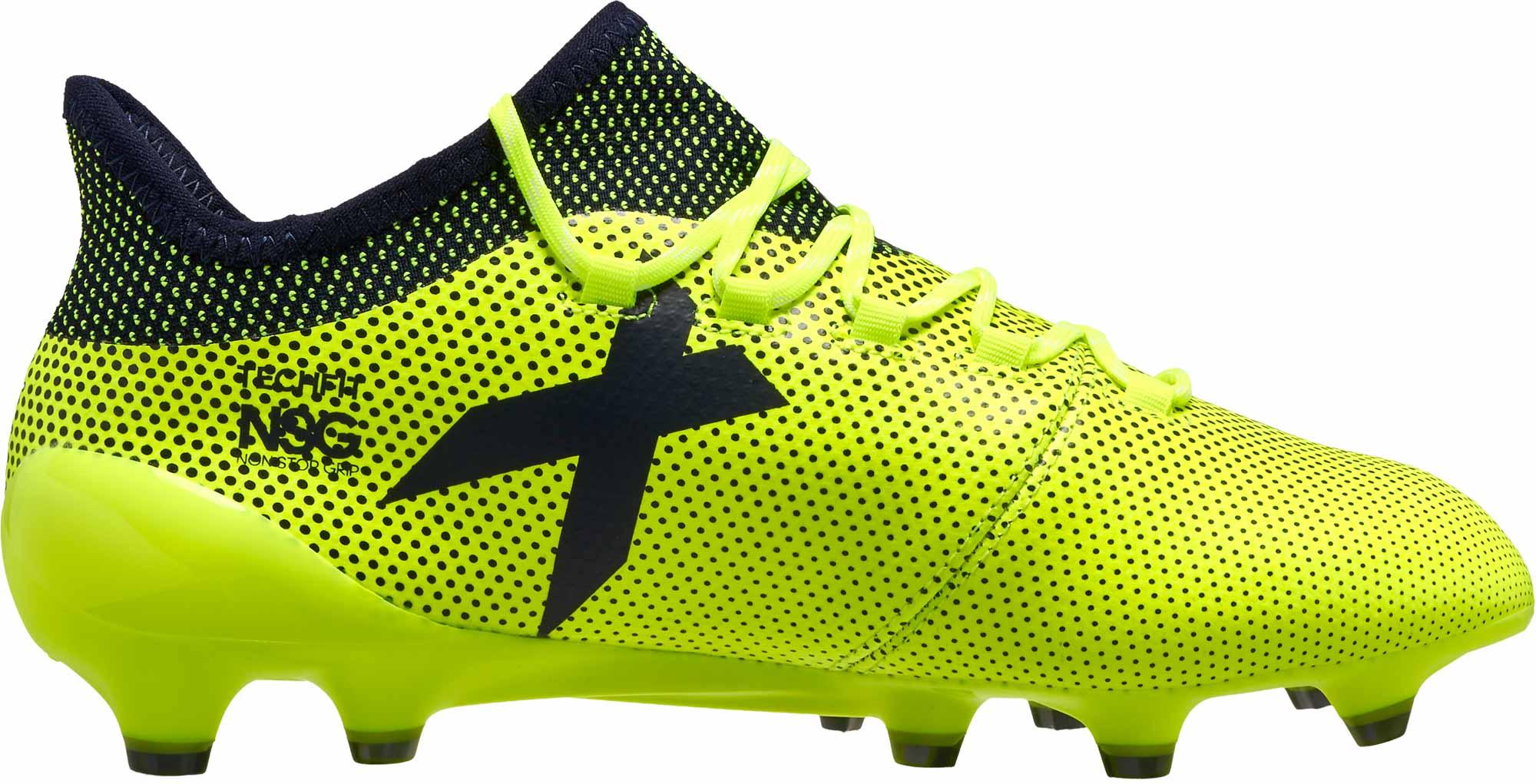 adidas X 17.1 FG Soccer Cleats - Solar Yellow   Legend Ink - Soccer ... 368ae5f8a692
