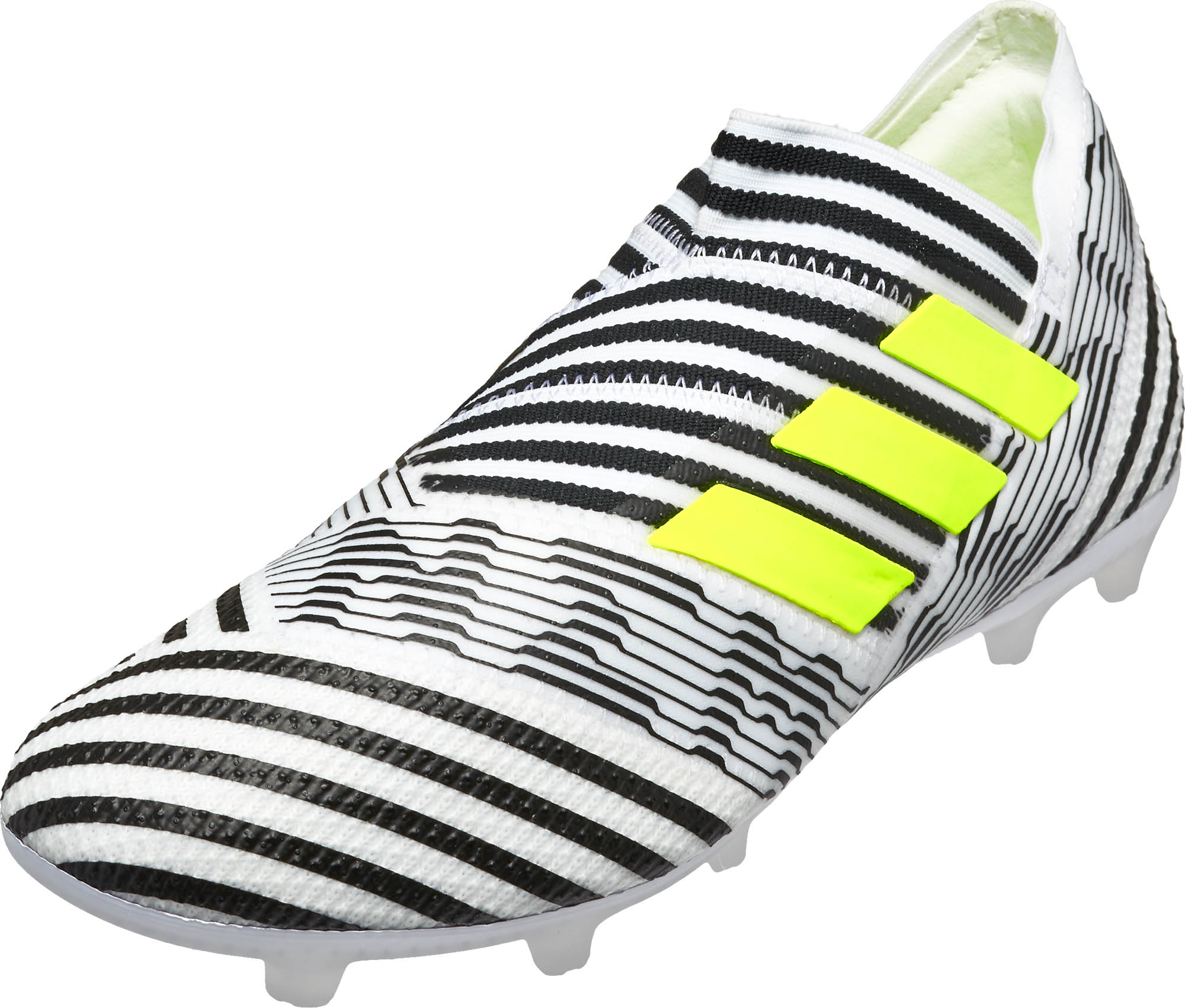 Kids adidas Nemeziz 17+ 360Agility FG Soccer Cleats – White   Solar Yellow f3b2b1818