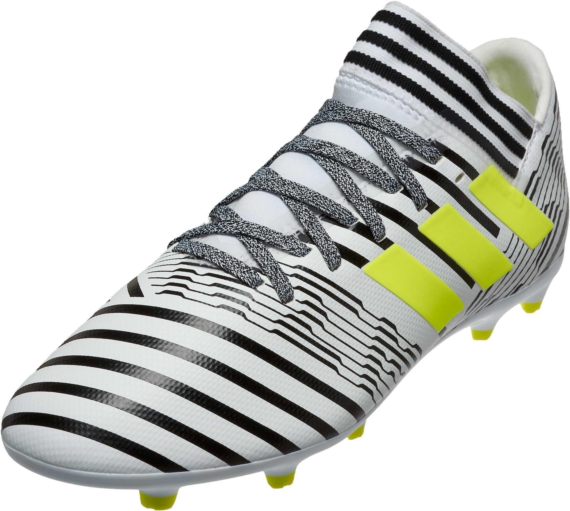 7493d07772e adidas Kids Nemeziz 17.3 FG Soccer Cleats - White & Solar Yellow ...