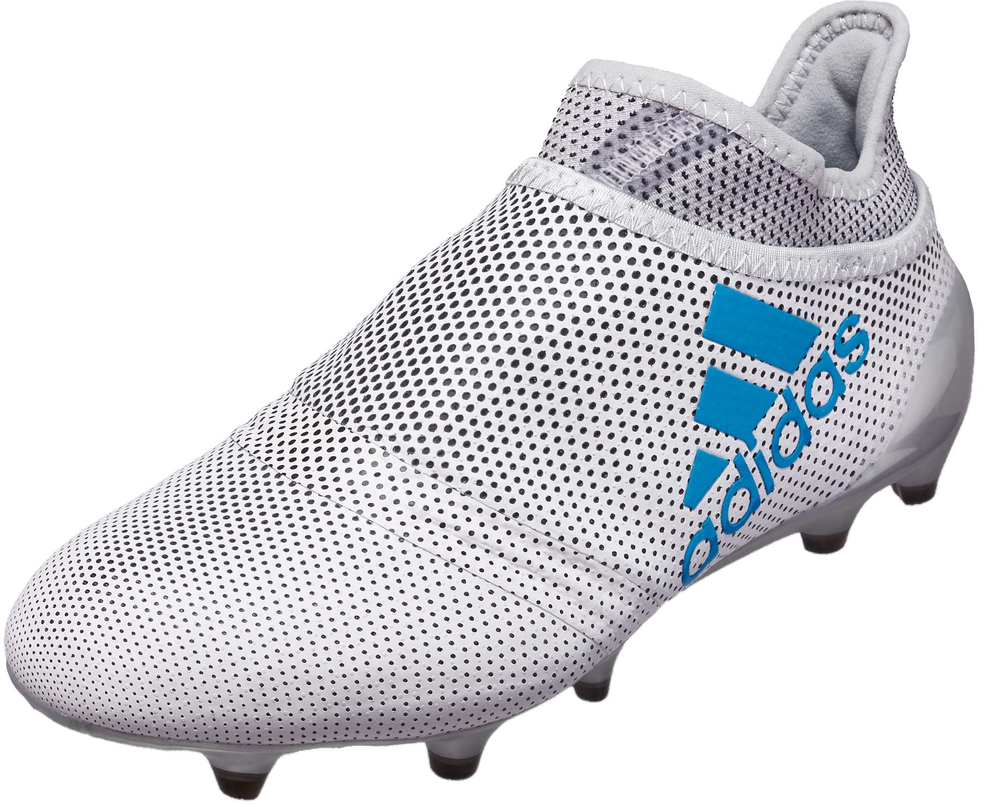 86f5c43603ed adidas Kids X 17+ Purechaos FG Soccer Cleats - White & Energy Blue ...